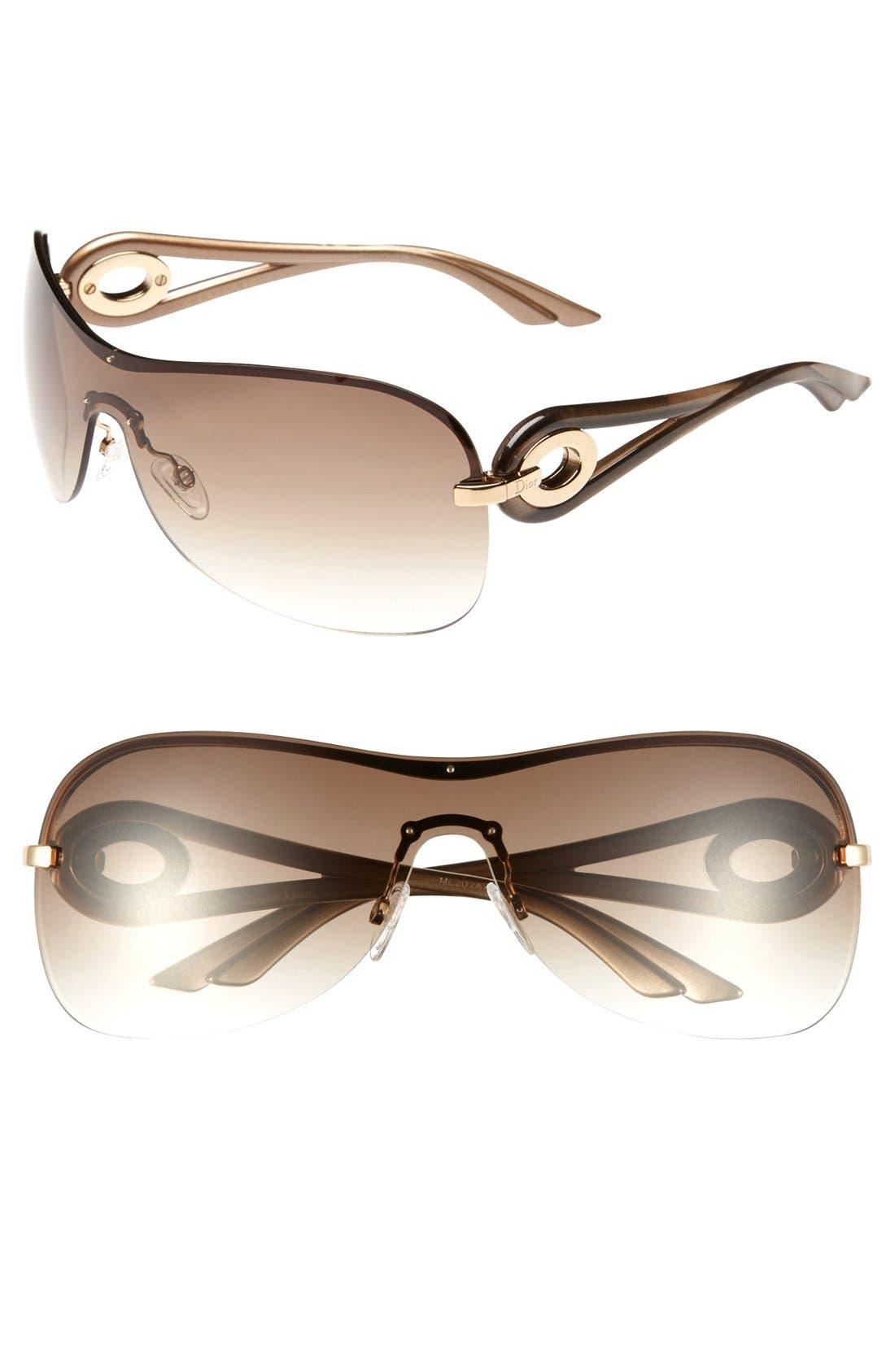 Main Image - Dior 'Volute 3' 99mm Shield Sunglasses
