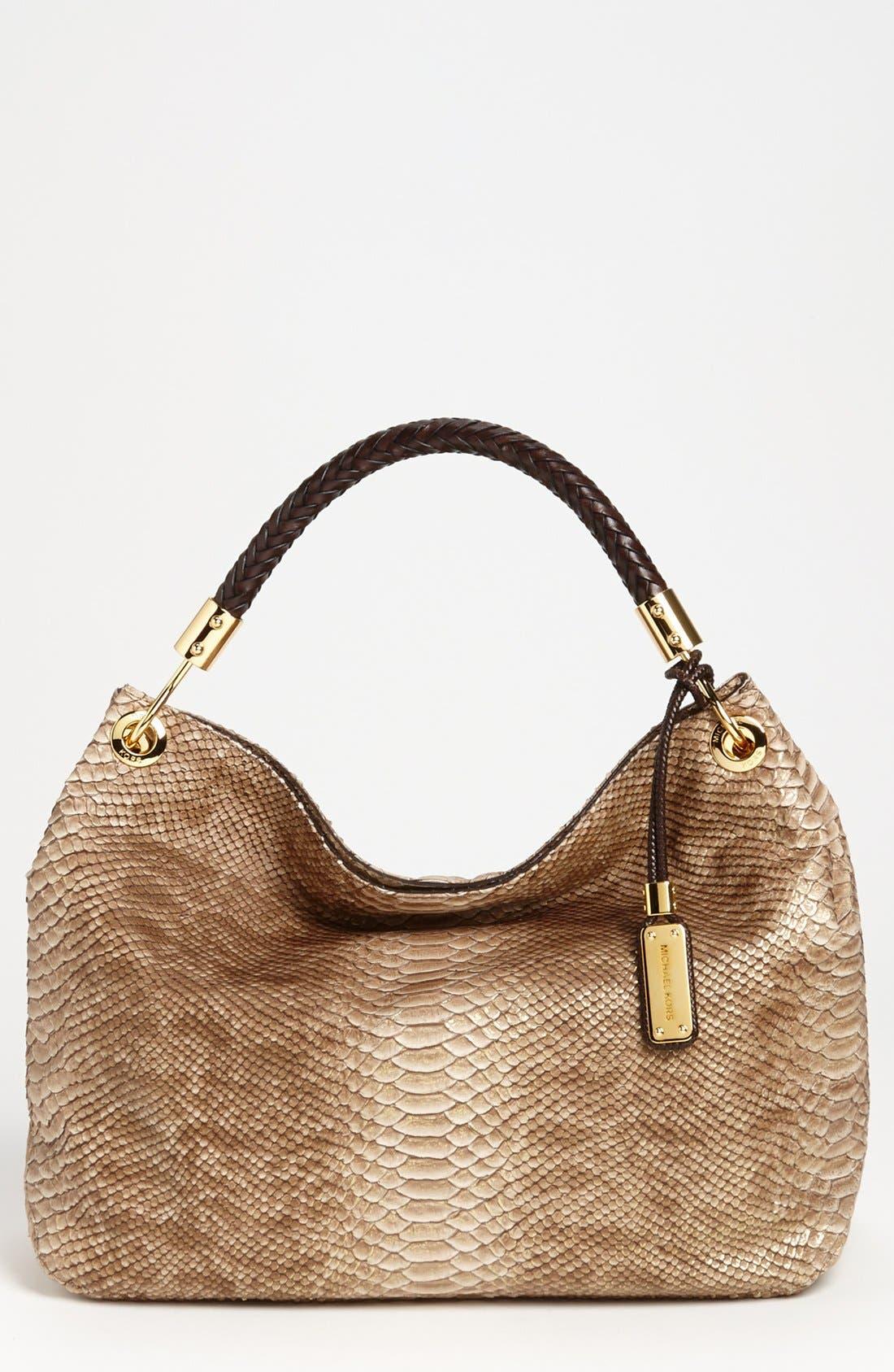 Main Image - Michael Kors 'Skorpios' Python Print Shoulder Bag