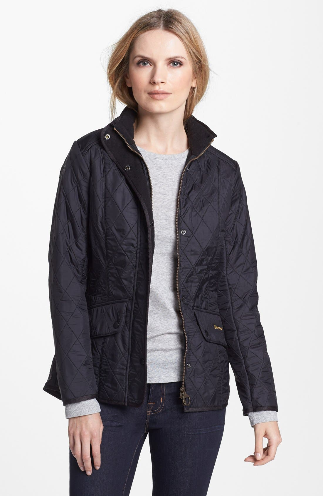 'Cavalry' Quilted Jacket,                         Main,                         color, Black