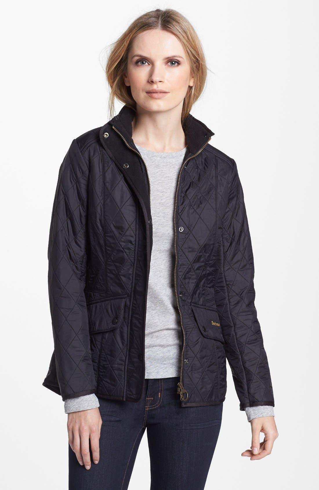 Womens black padded jacket fur hood
