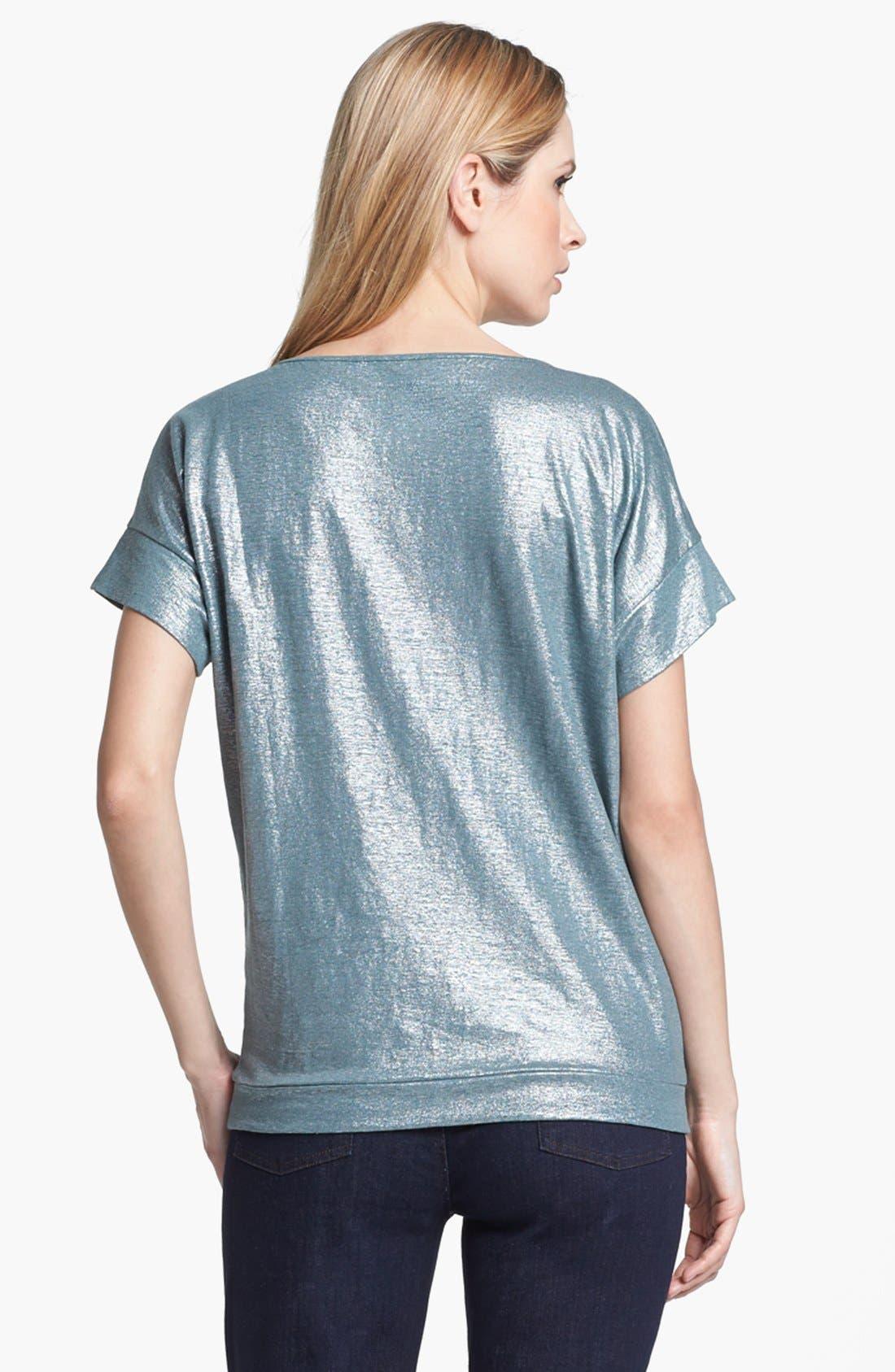 Alternate Image 2  - Eileen Fisher Metallic Knit Wedge Top