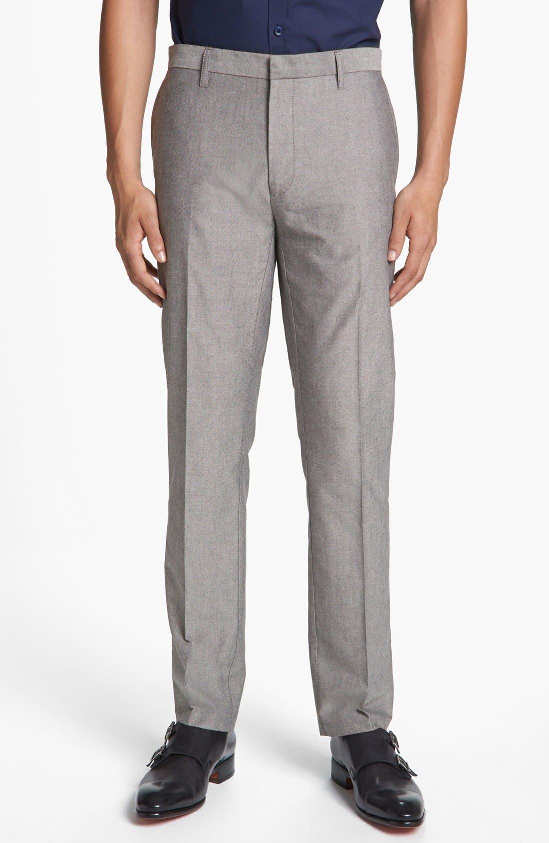 Alternate Image 1 Selected - Topman Skinny Oxford Trousers