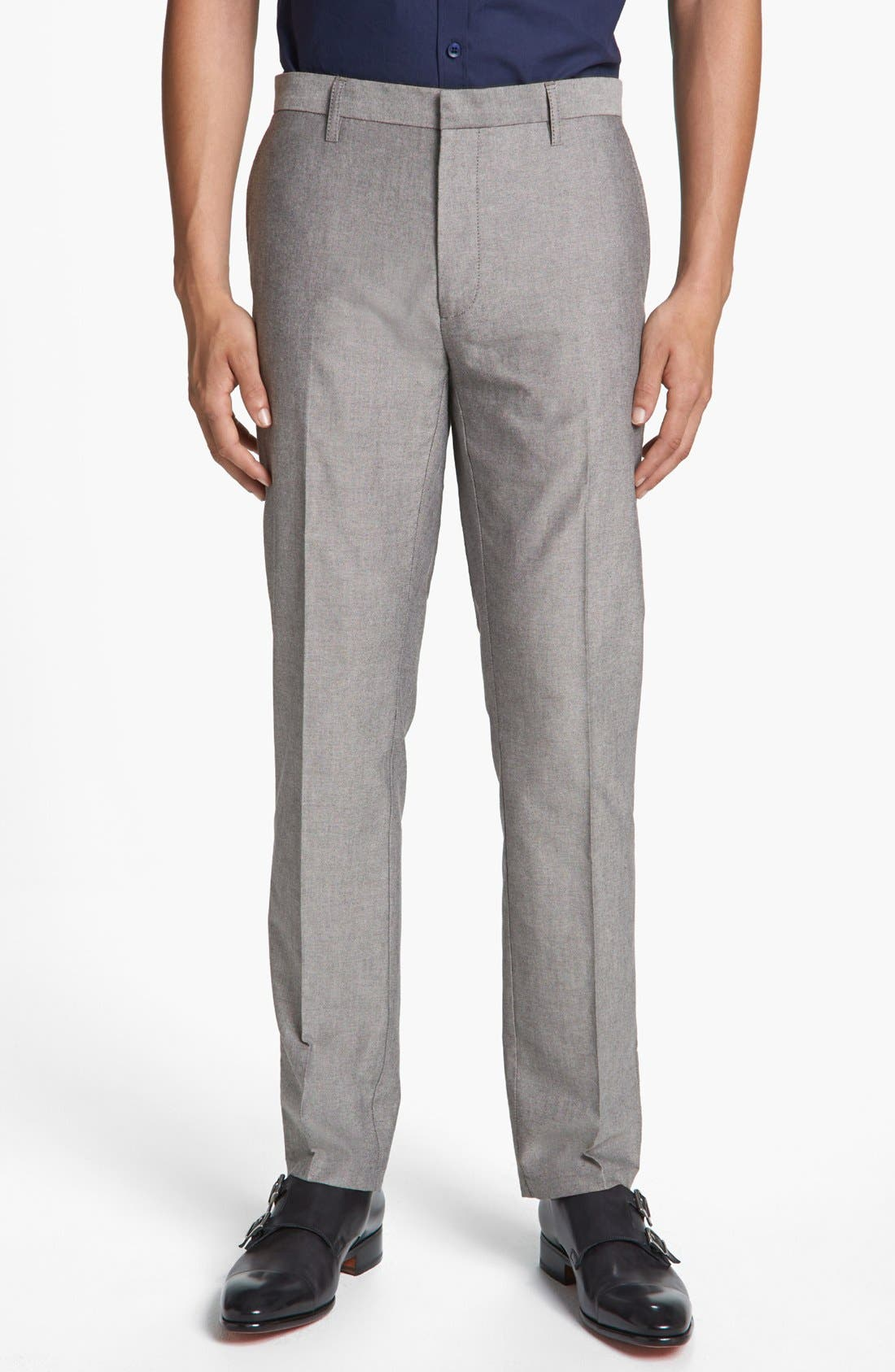 Main Image - Topman Skinny Oxford Trousers
