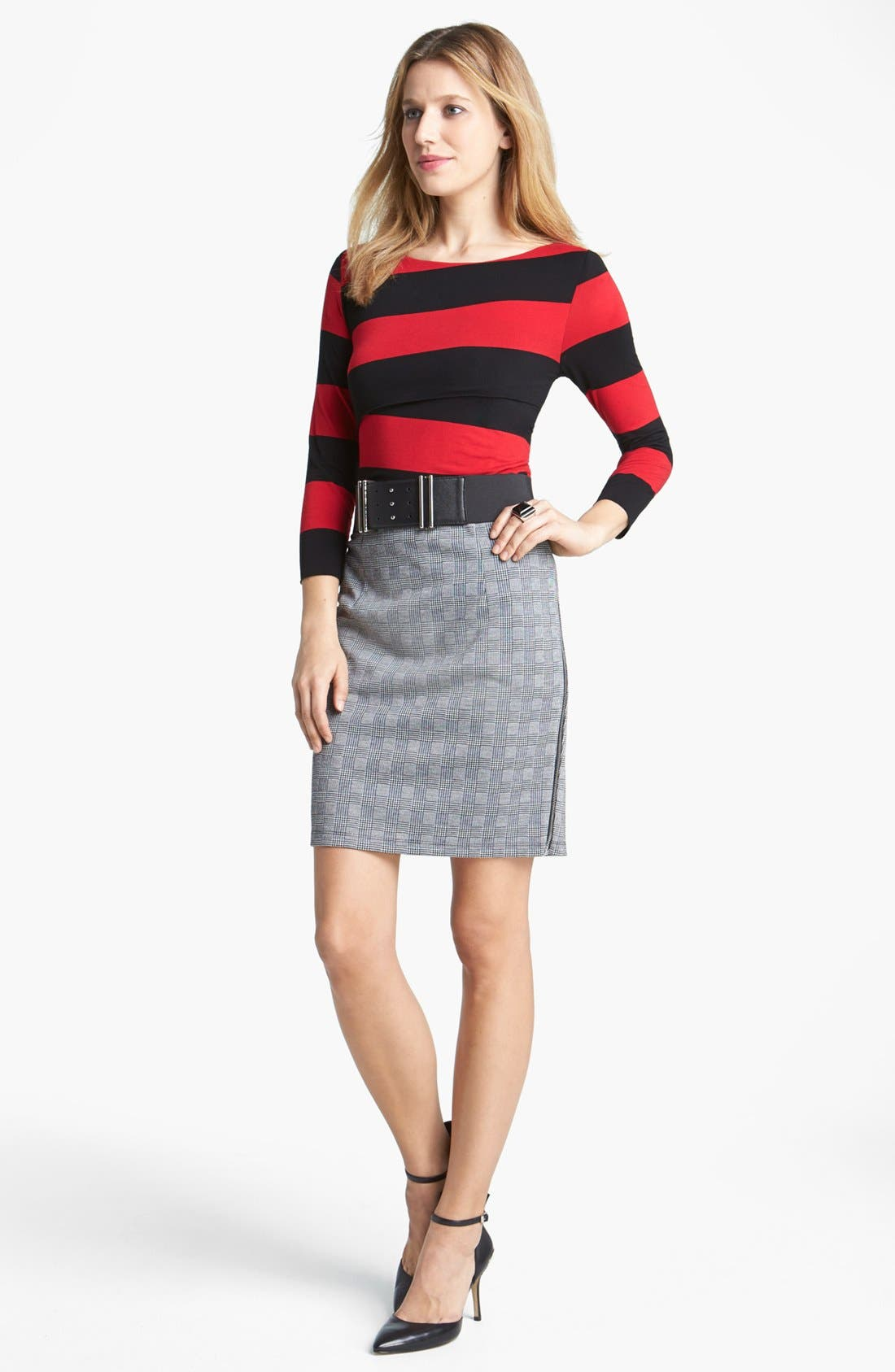 Alternate Image 7  - Vince Camuto Side Zip Glen Plaid Pencil Skirt (Nordstrom Exclusive)