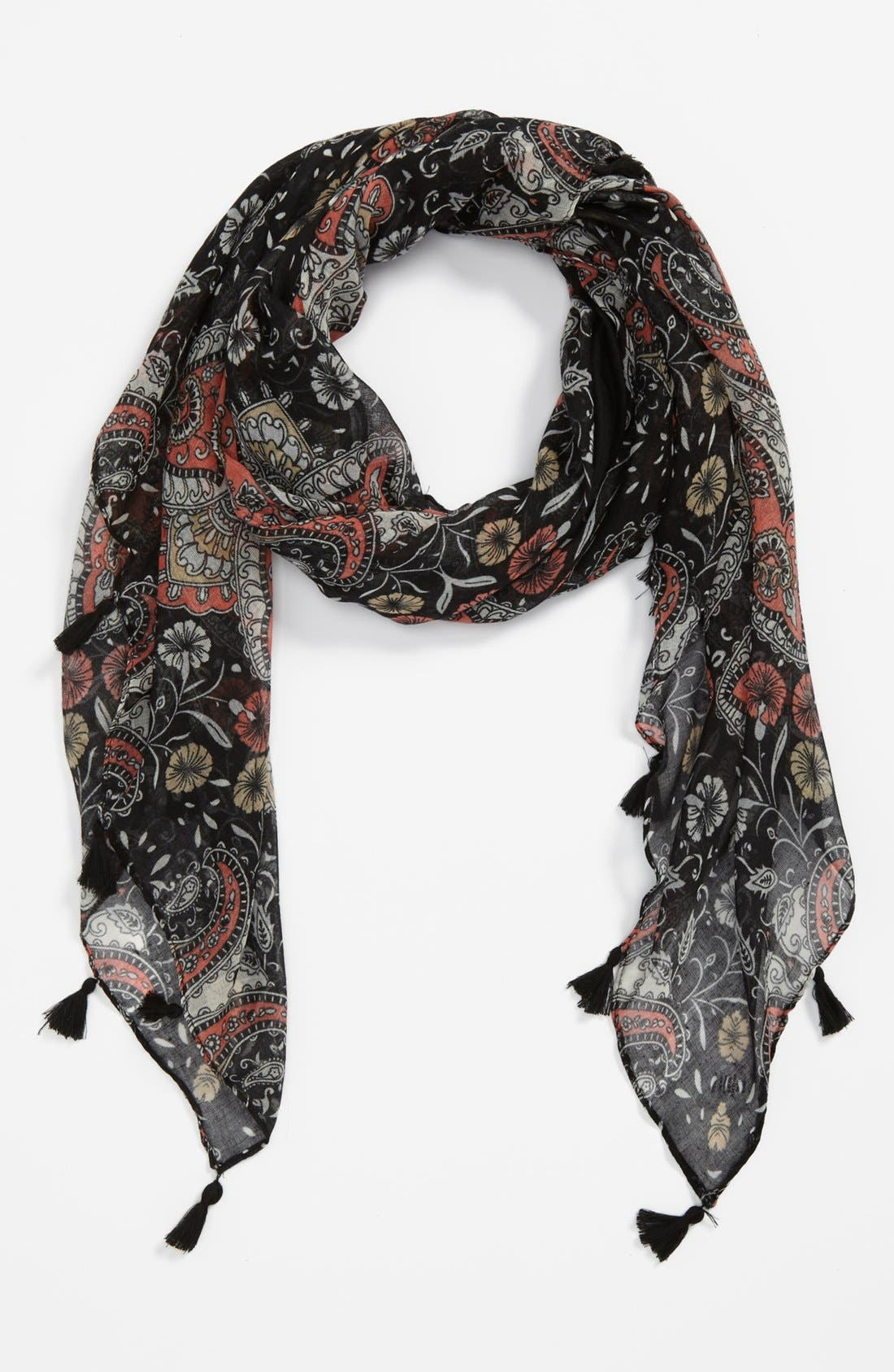 Alternate Image 1 Selected - BP. Floral Paisley Scarf