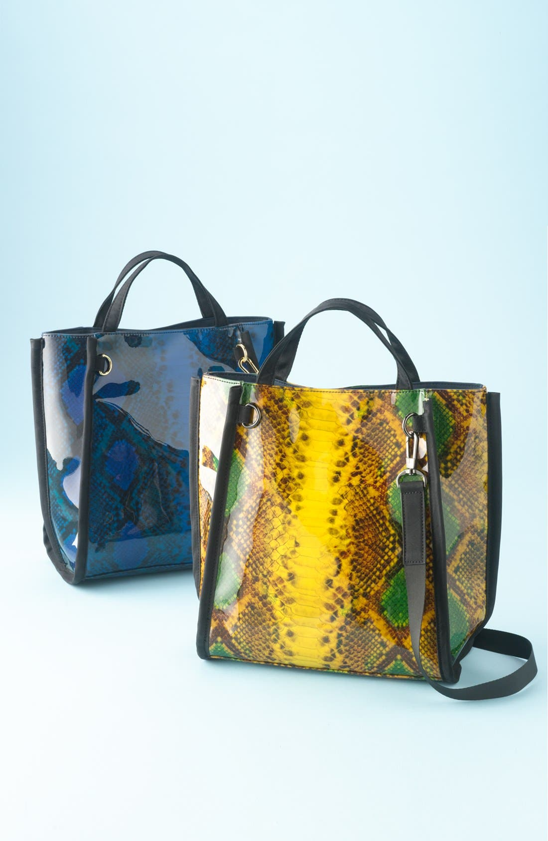 Alternate Image 5  - French Connection Snake Print Tote