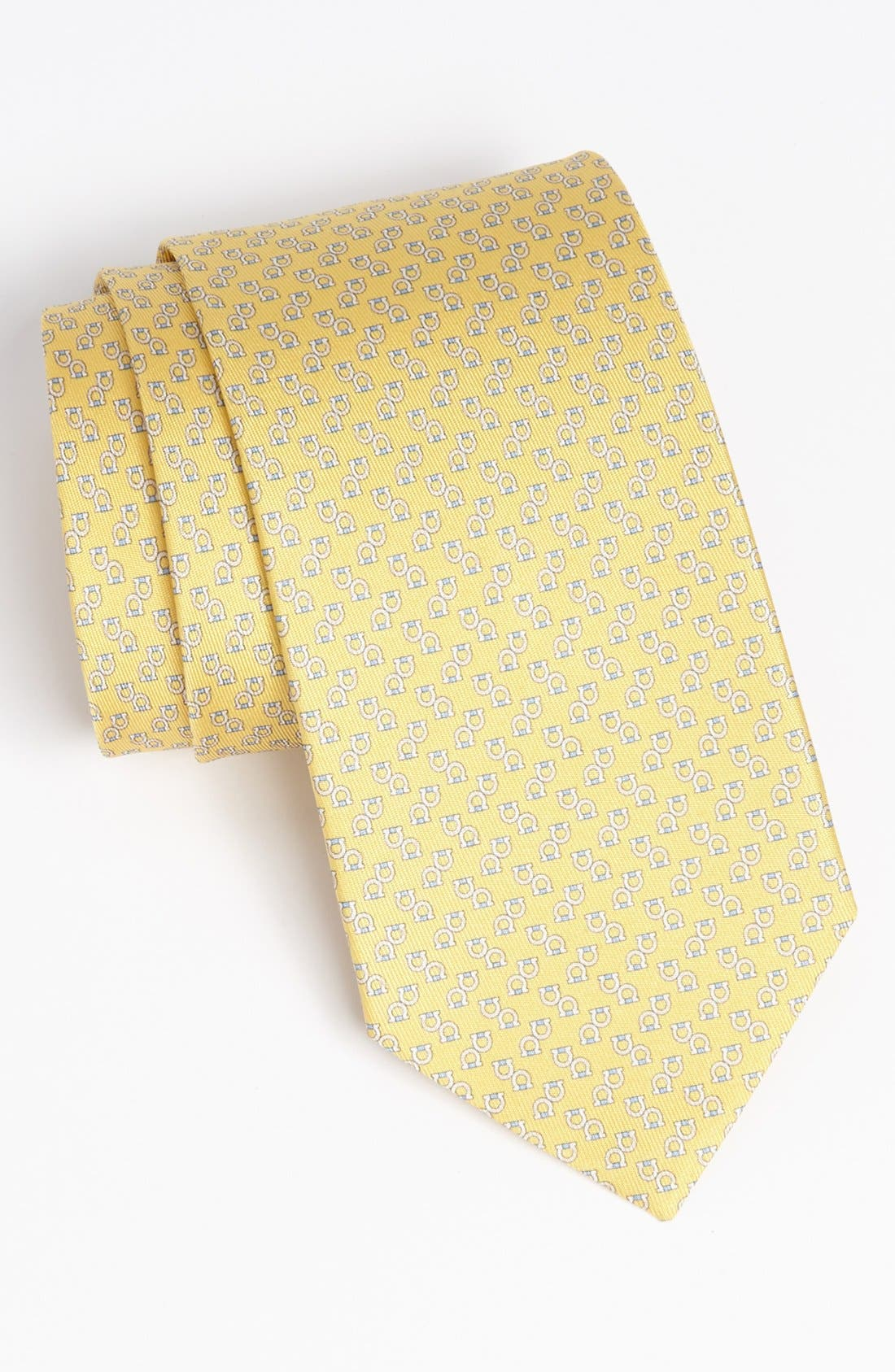 Alternate Image 1 Selected - Salvatore Ferragamo Gancini Print Silk Tie