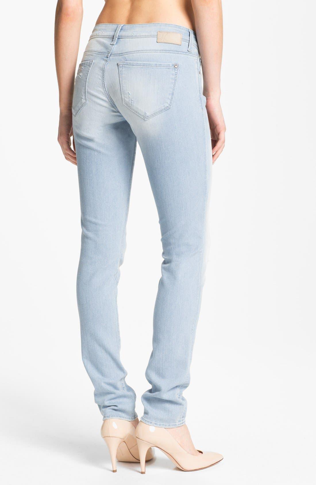 Alternate Image 2  - Mavi Jeans 'Serena' Low Rise Super Skinny Jeans (Bleached Nolita)