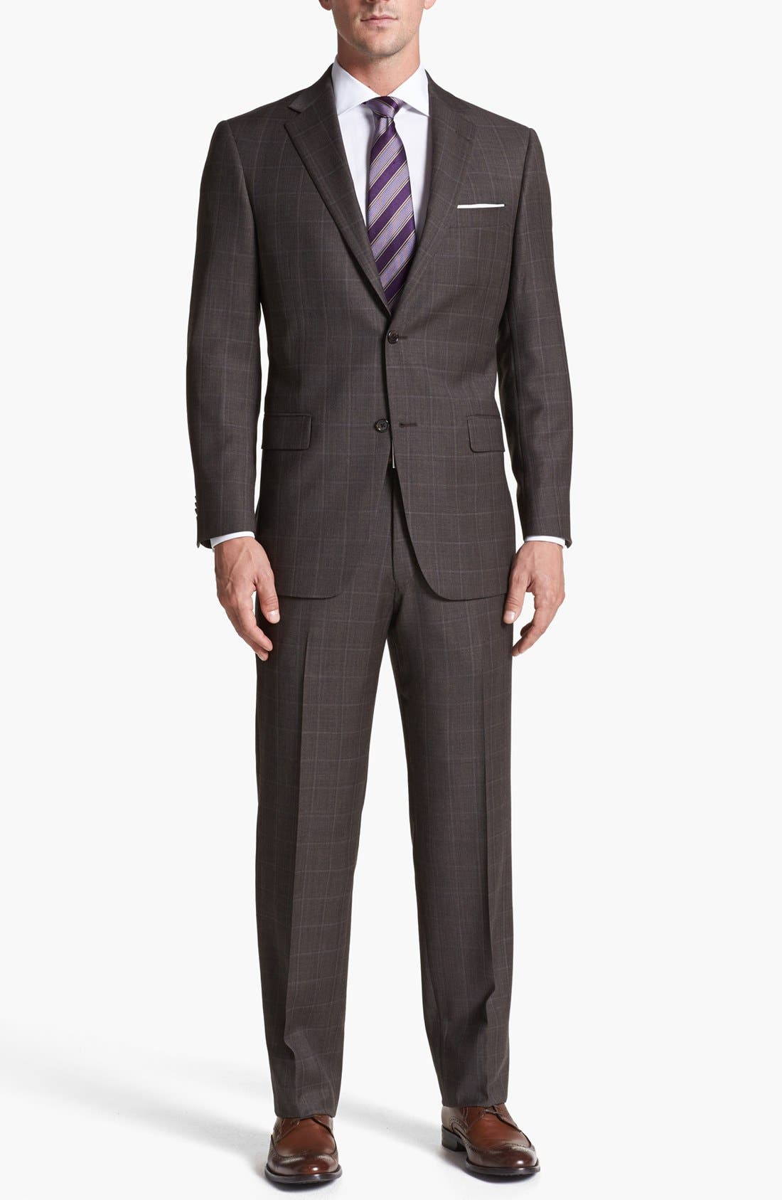 Alternate Image 1 Selected - Hart Schaffner Marx Classic Fit Plaid Suit