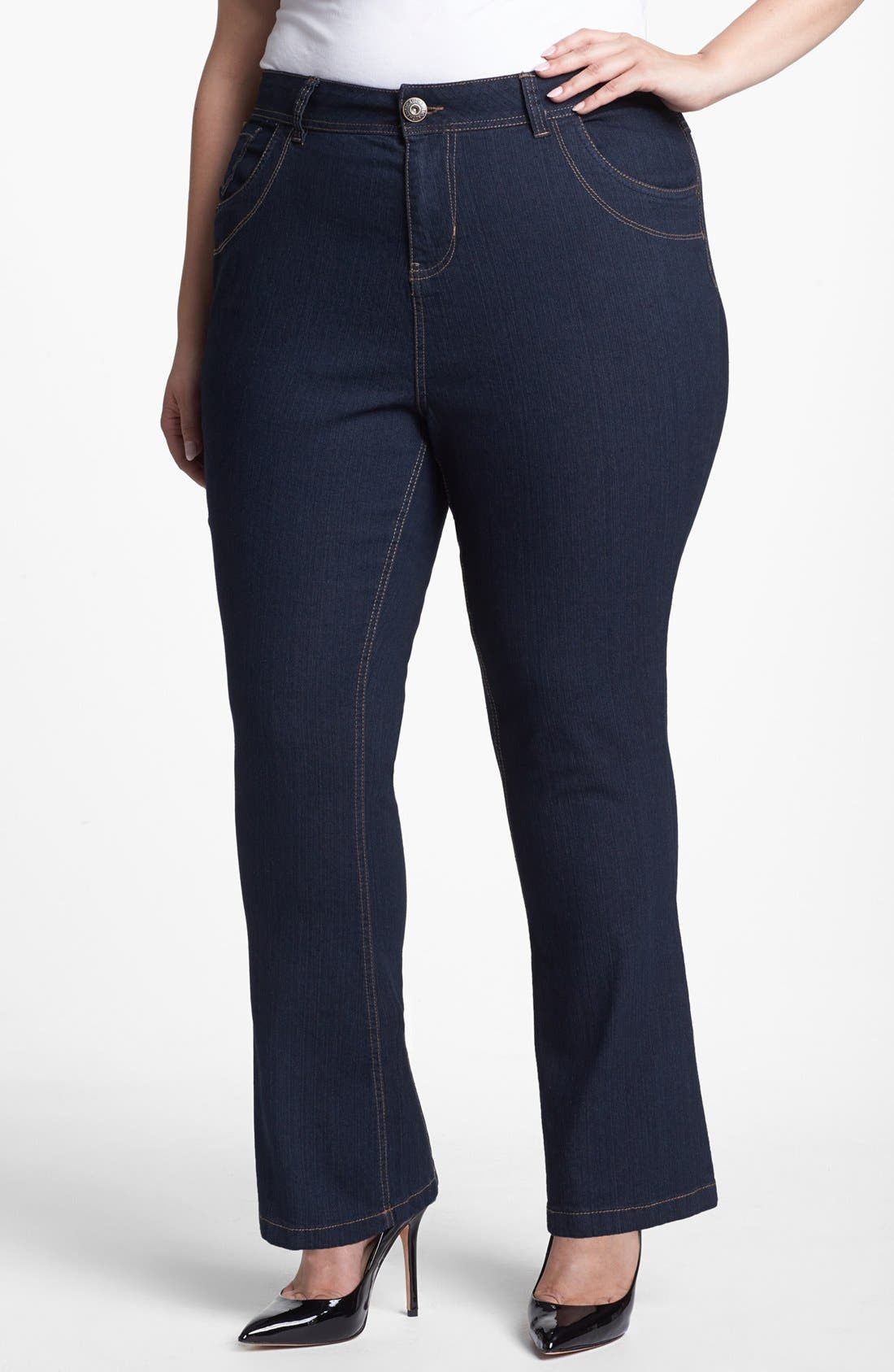 Alternate Image 1 Selected - Evans Bootcut Jeans (Plus Size)