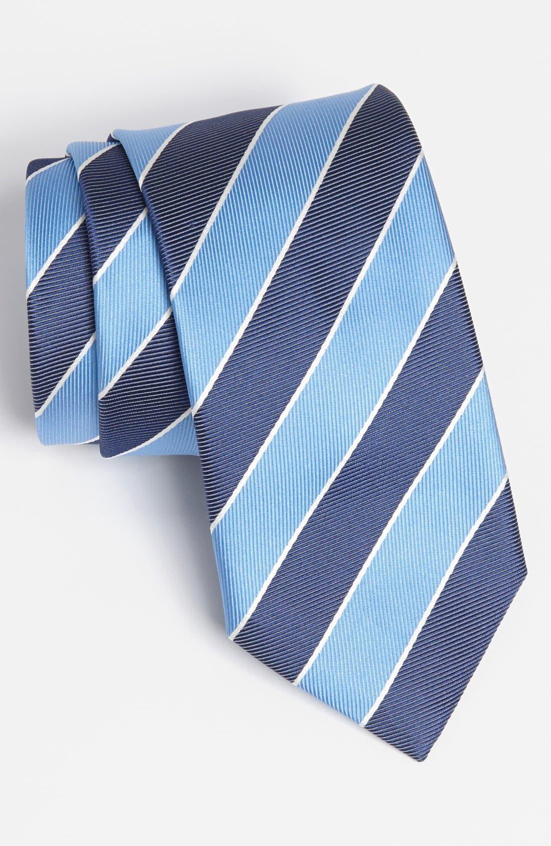 HUGO BOSS Woven Silk Tie,                         Main,                         color, Blue
