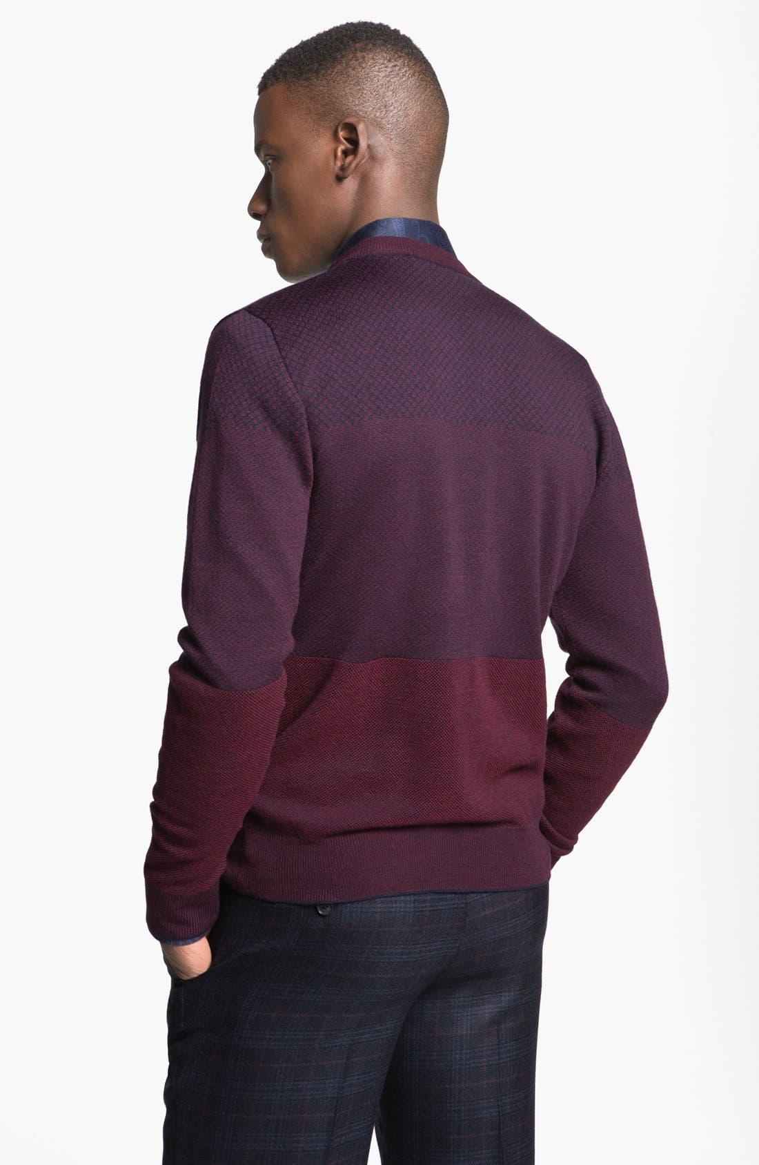 Alternate Image 2  - Etro Jacquard Wool V-Neck Sweater