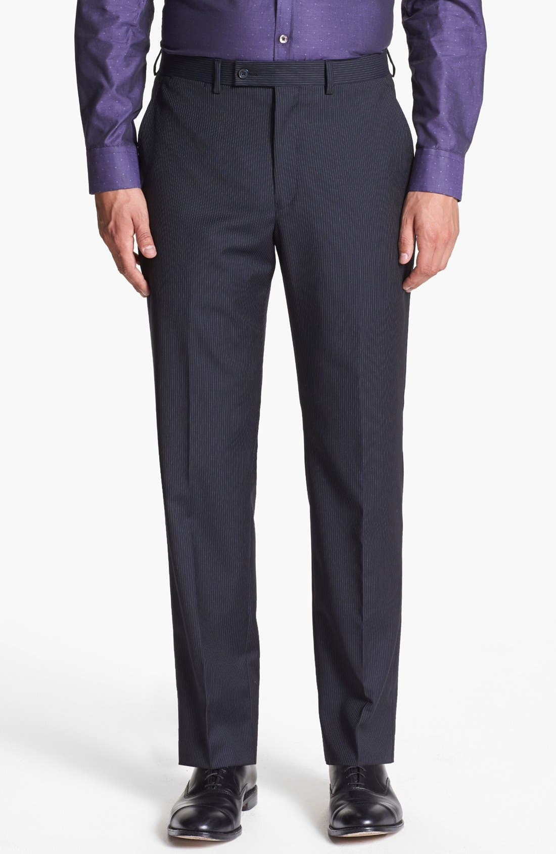 Alternate Image 4  - Michael Kors Stripe Suit & Ted Baker London Sweater