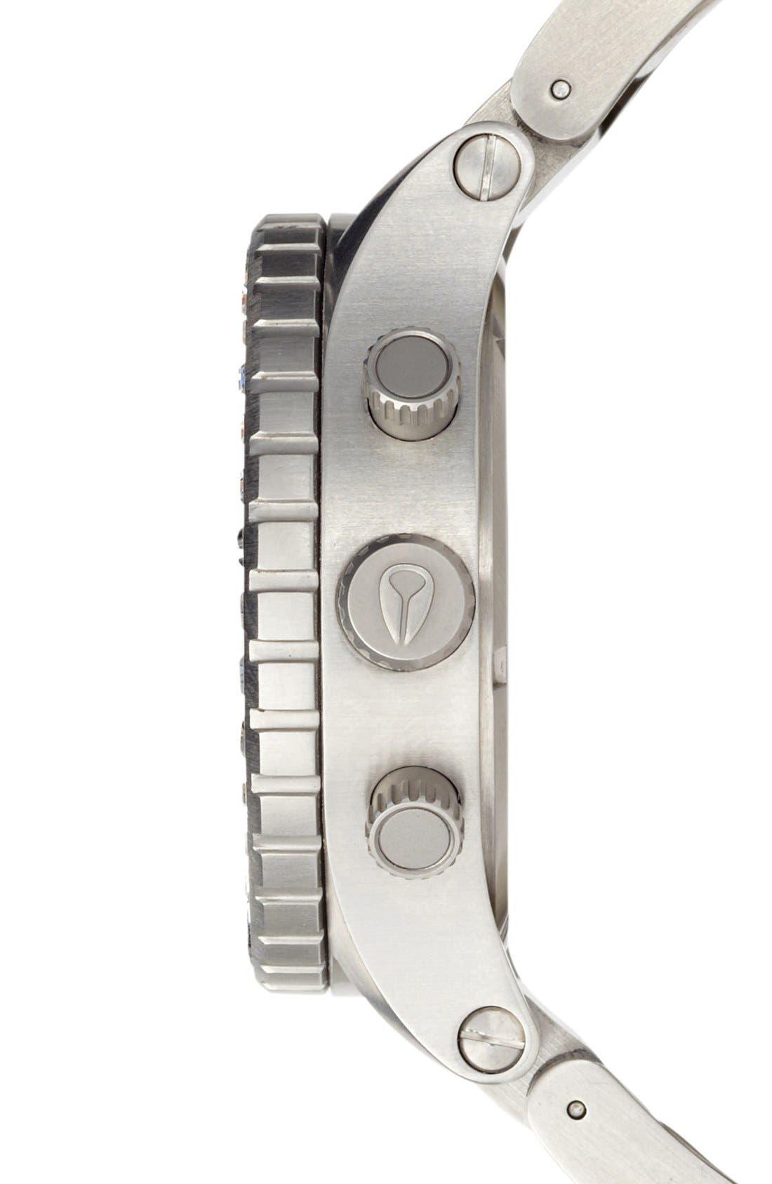 Alternate Image 3  - Nixon 'The 42-20 Chrono' Crystal Bracelet Watch, 42mm