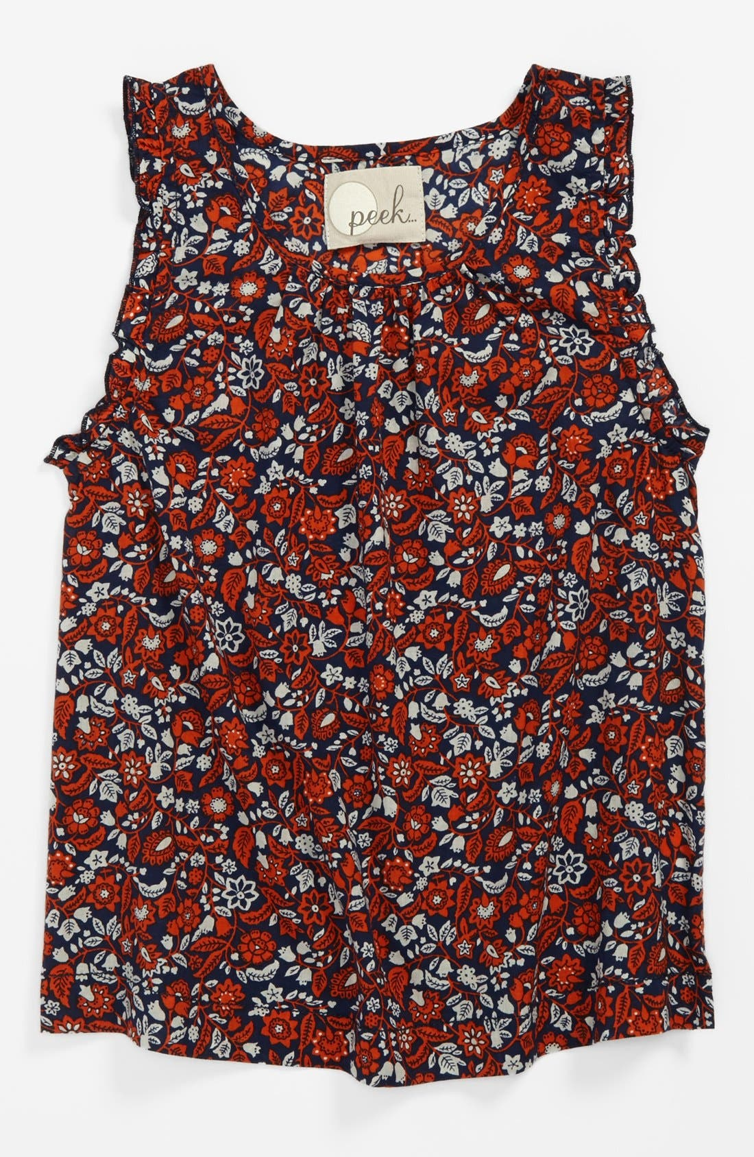 Alternate Image 1 Selected - Peek 'Liberty' Top (Toddler Girls, Little Girls & Big Girls)