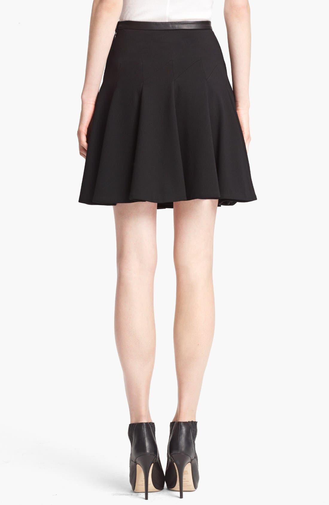 Alternate Image 2  - Jason Wu Leather Waist Flounce Skirt