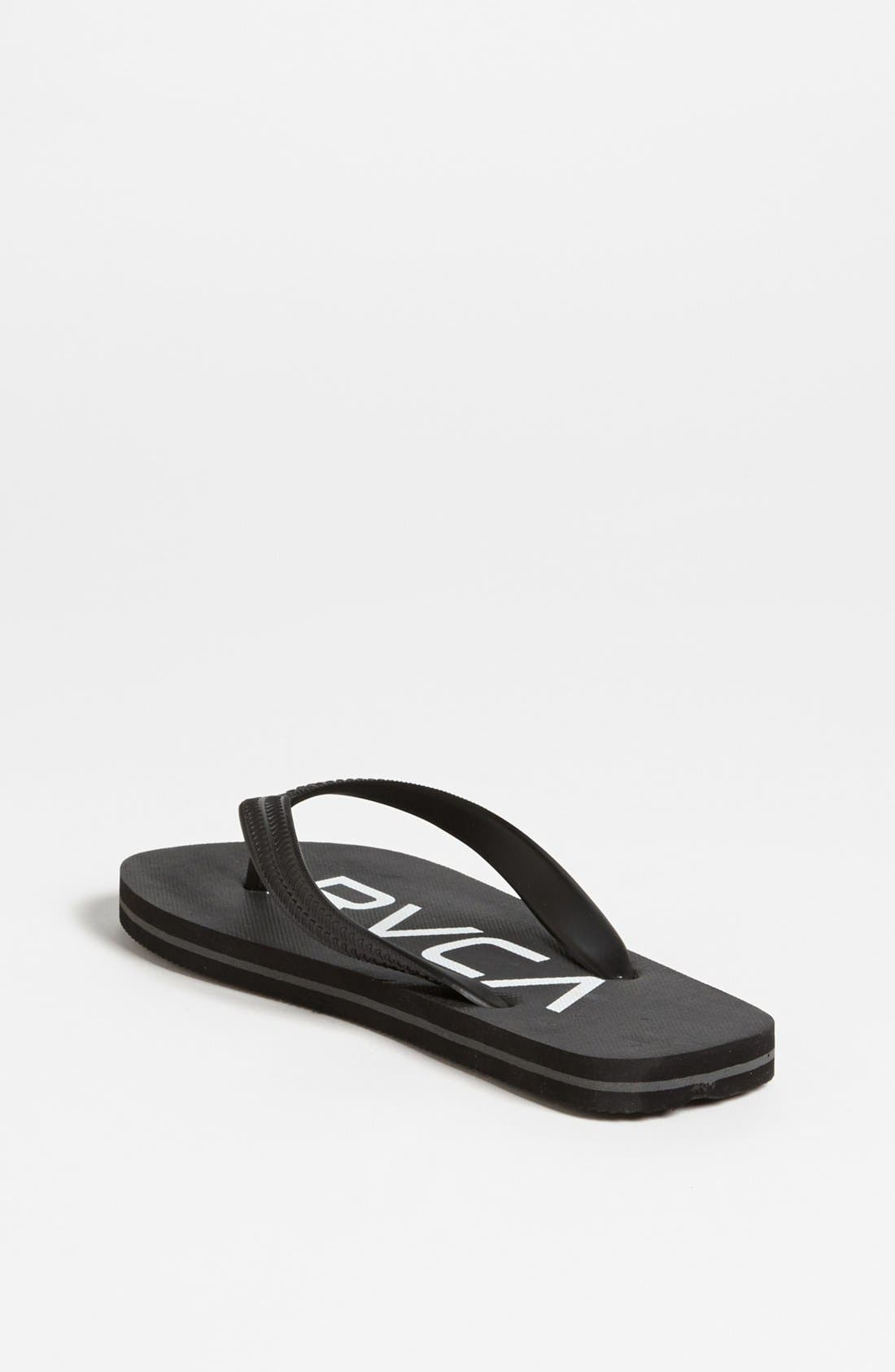 Alternate Image 2  - RVCA 'Sandlot' Flip Flop (Little Boys & Big Boys)