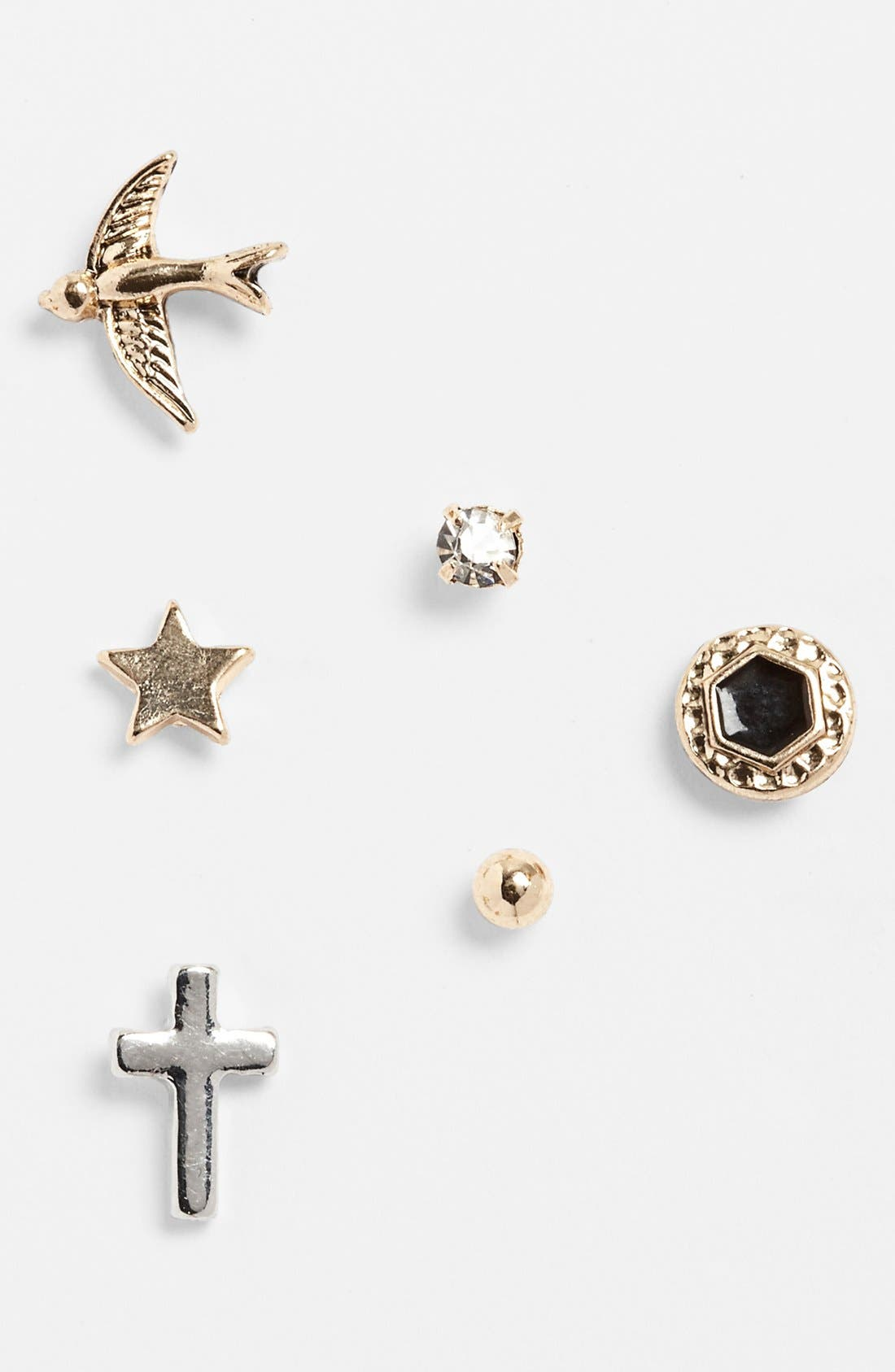 Main Image - Statements by DCK Assorted Stud Earrings (Set of 6)