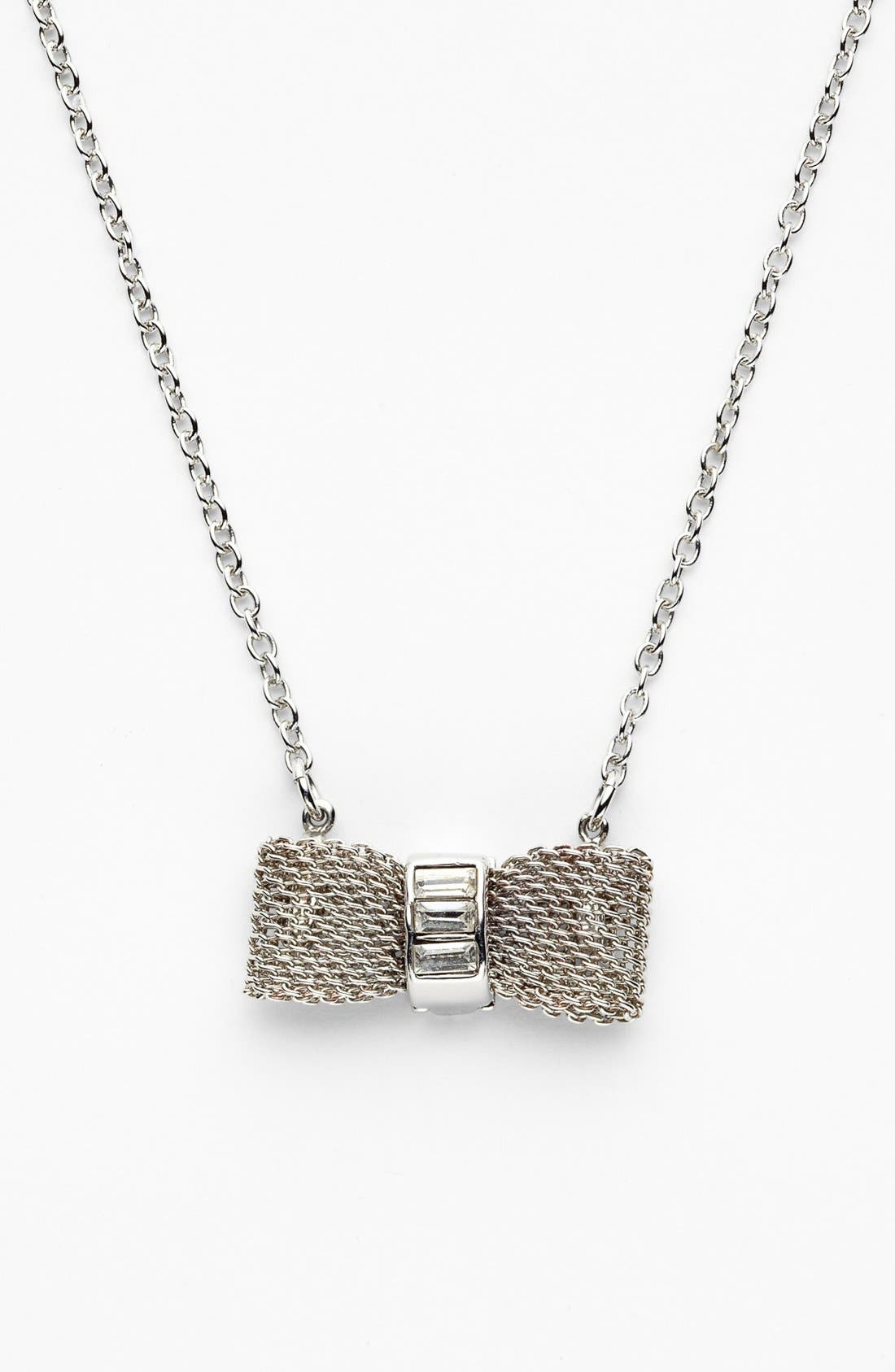Alternate Image 1 Selected - Anne Klein Bow Pedant Necklace