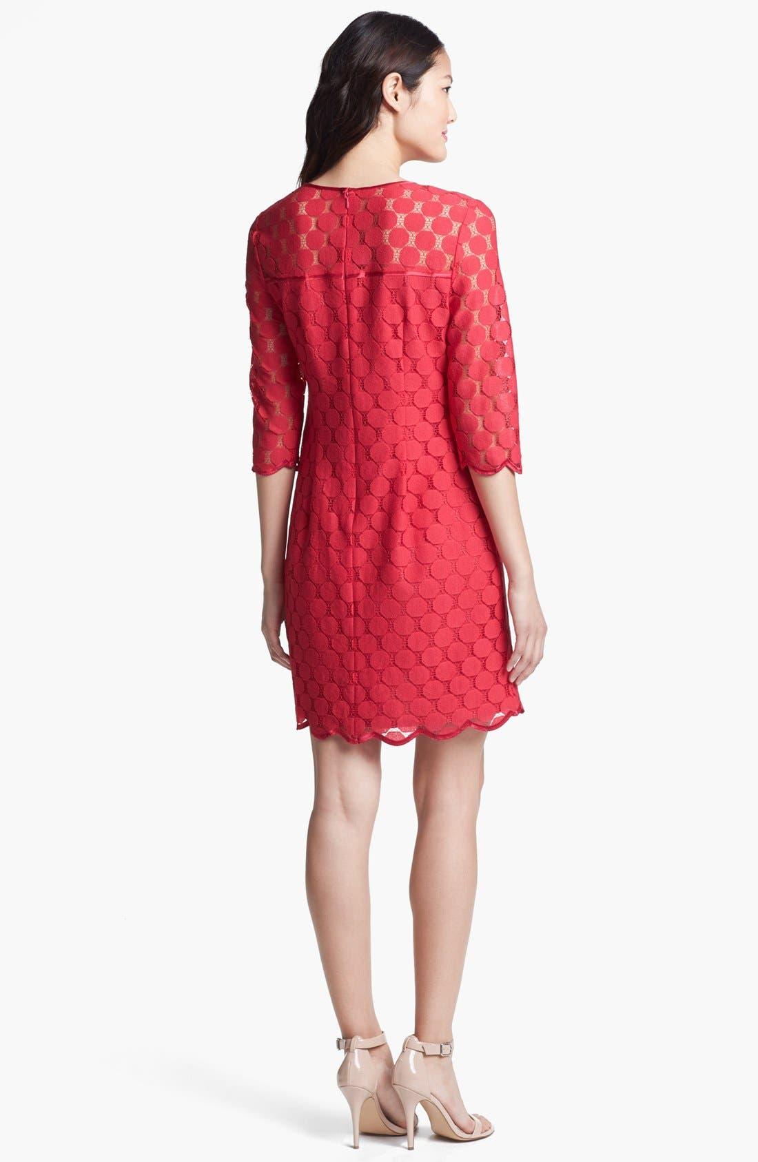 Alternate Image 2  - Adrianna Papell Illusion Yoke Lace Sheath Dress