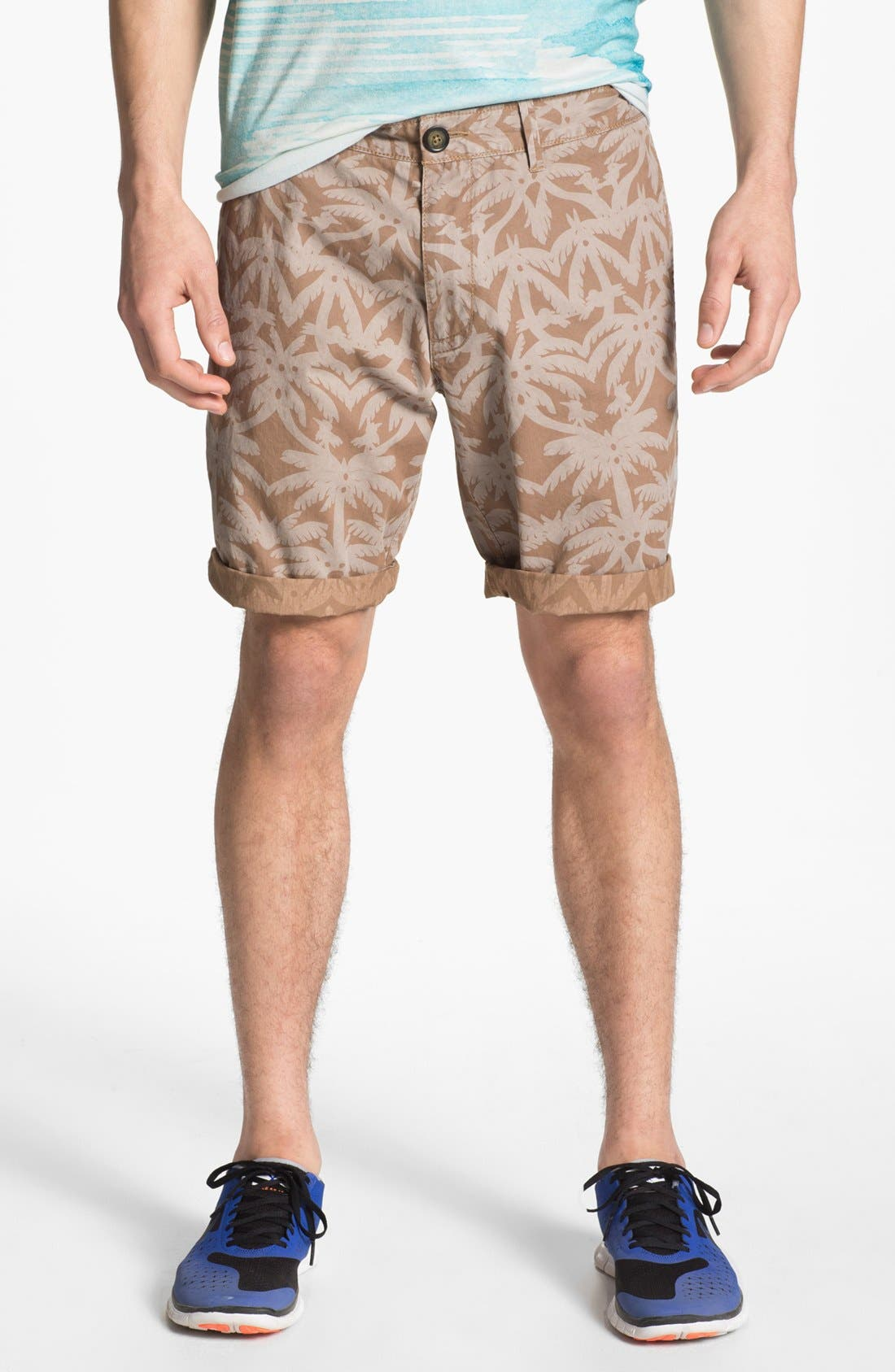 Main Image - Original Penguin Palm Print Shorts