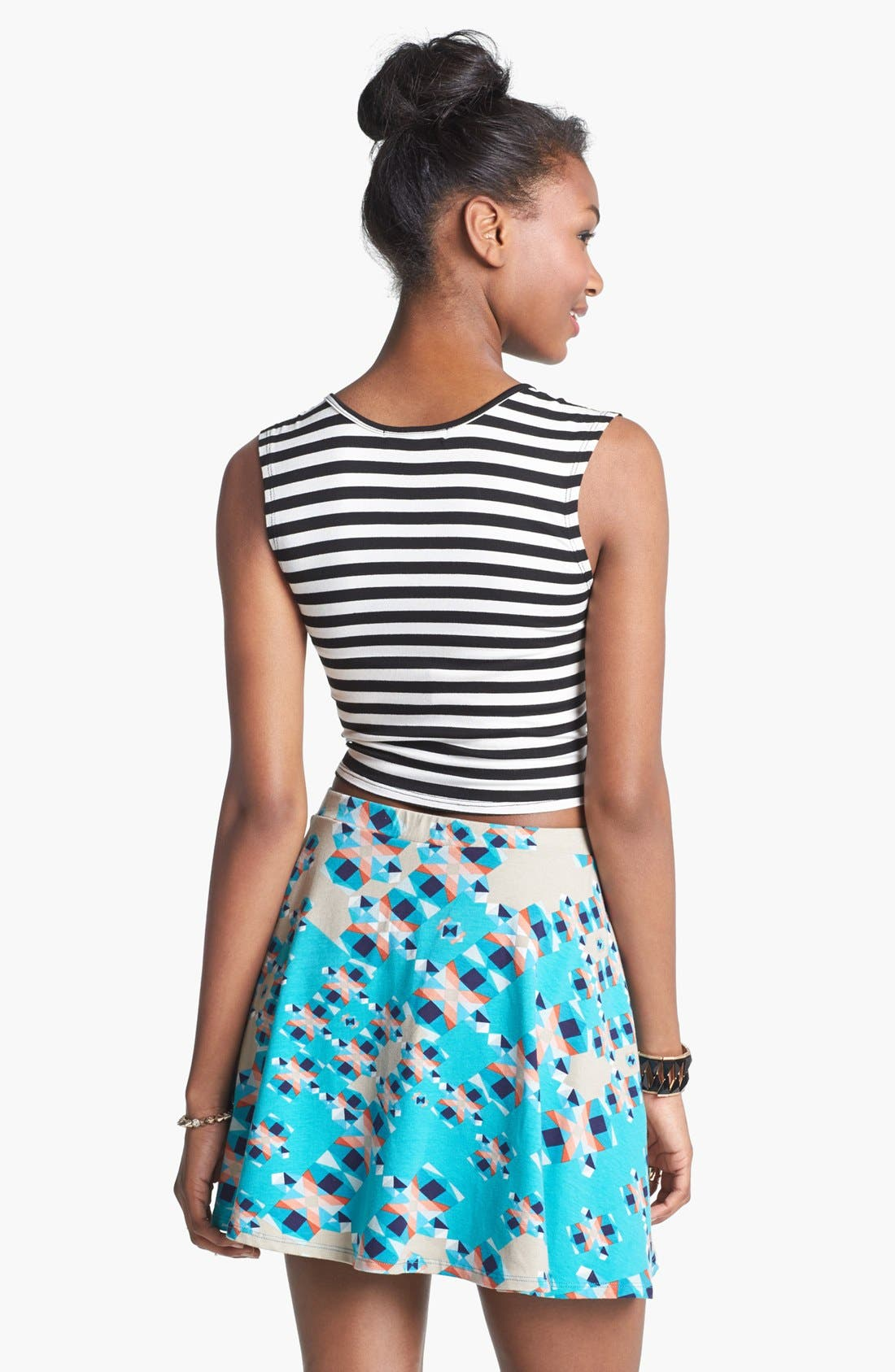 Alternate Image 2  - Lily White Skater Skirt (Juniors)