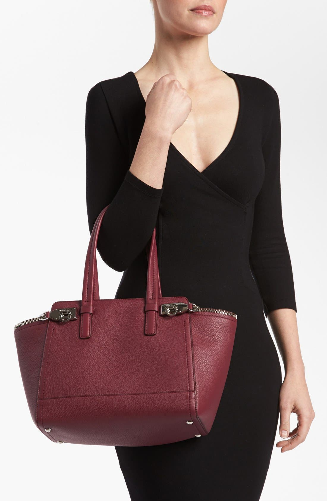 Alternate Image 2  - Salvatore Ferragamo 'Small Arianna' Leather Satchel