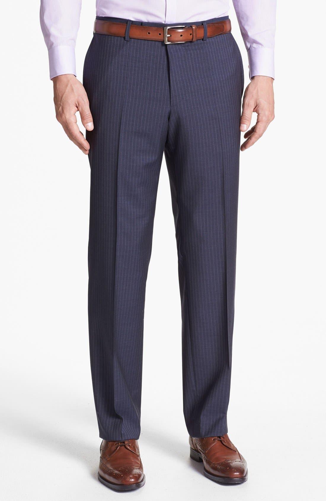 Alternate Image 5  - BOSS HUGO BOSS 'Edison/Power' Classic Fit Stripe Suit