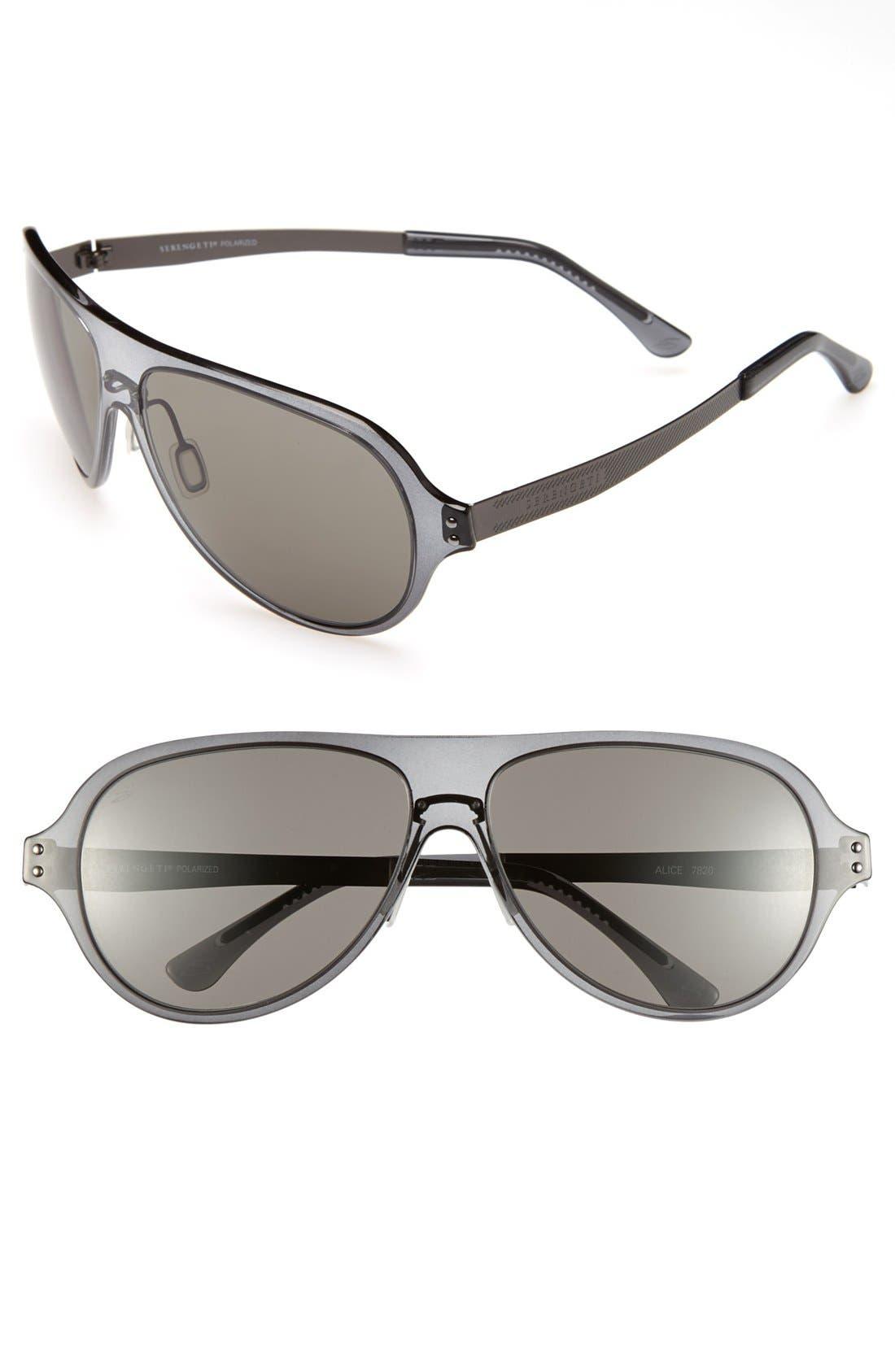 Alternate Image 1 Selected - Serengeti 'Alice' 67mm Polarized Aviator Sunglasses
