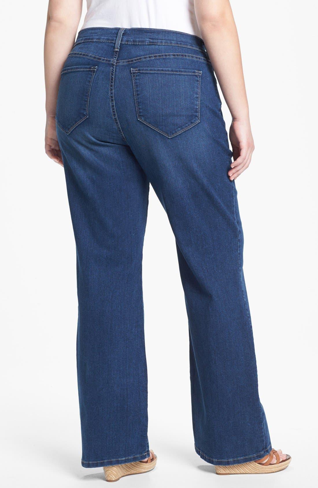 Alternate Image 2  - NYDJ 'Sarah' Bootcut Jeans (Plus Size)