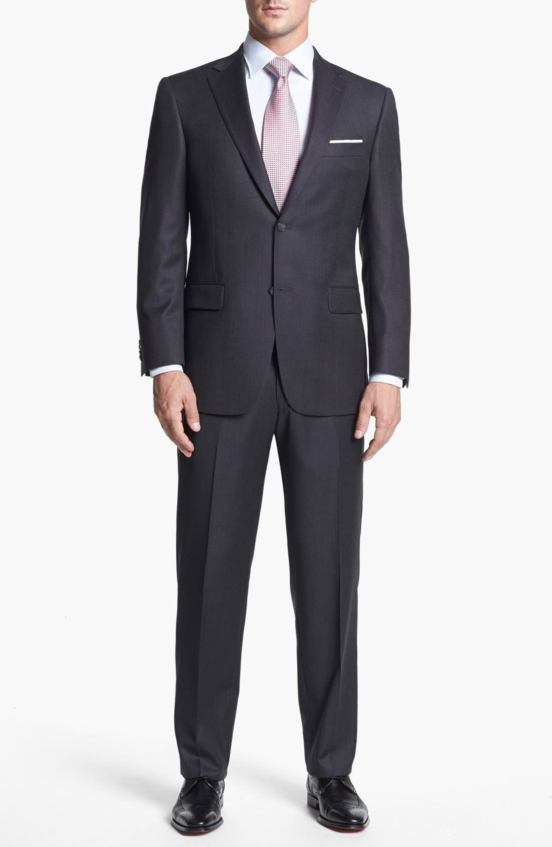 Alternate Image 1 Selected - Hart Schaffner Marx Classic Fit Wool Suit