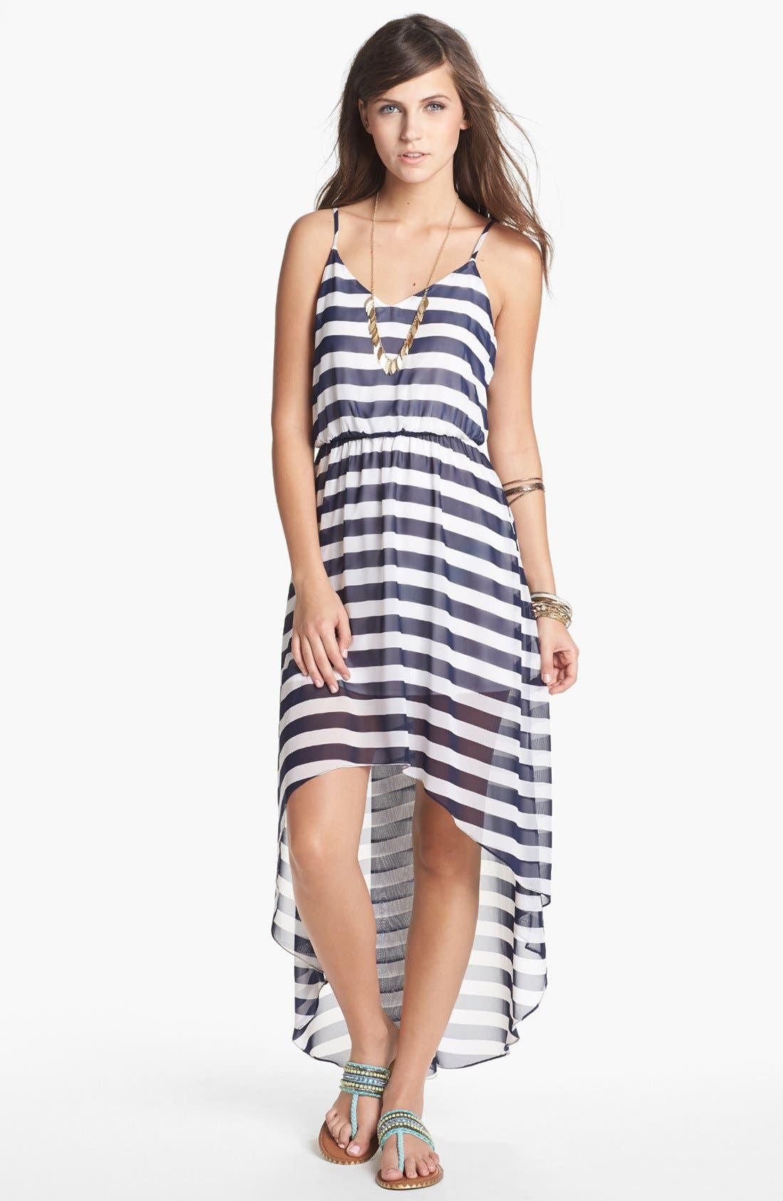 Alternate Image 1 Selected - Soprano Print High/Low Dress (Juniors)