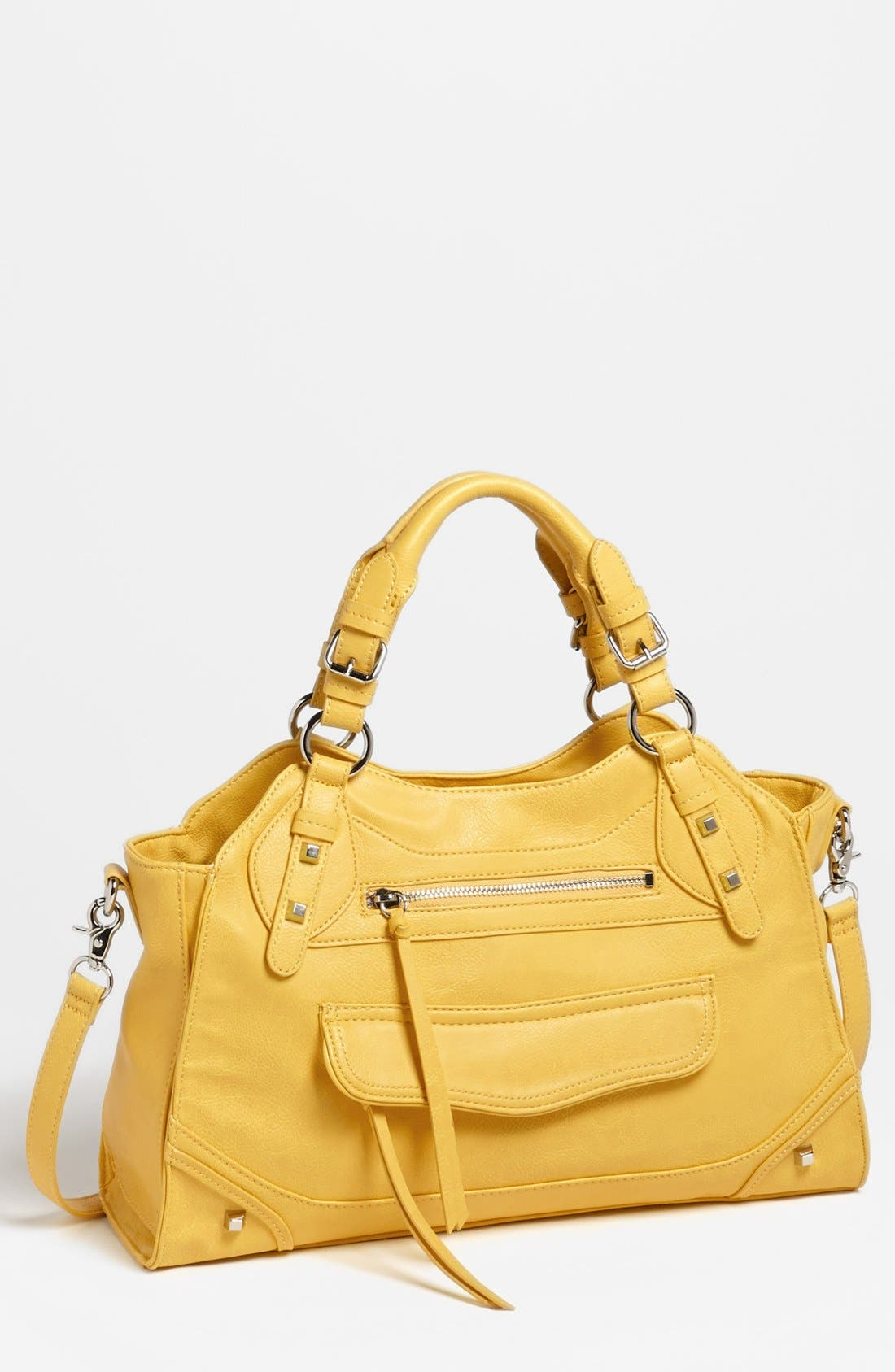 Main Image - Jessica Simpson 'Melrose' Faux Leather Satchel, Large