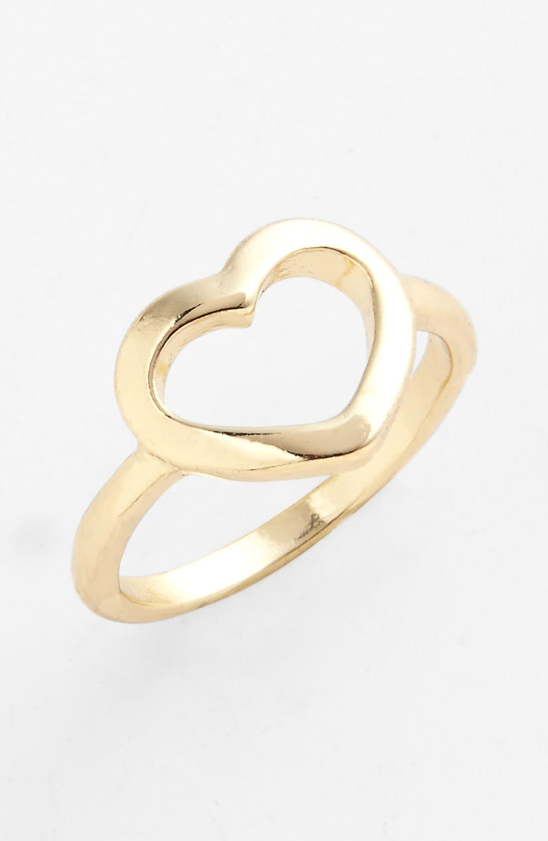 Alternate Image 1 Selected - Carole Open Heart Ring (Juniors)