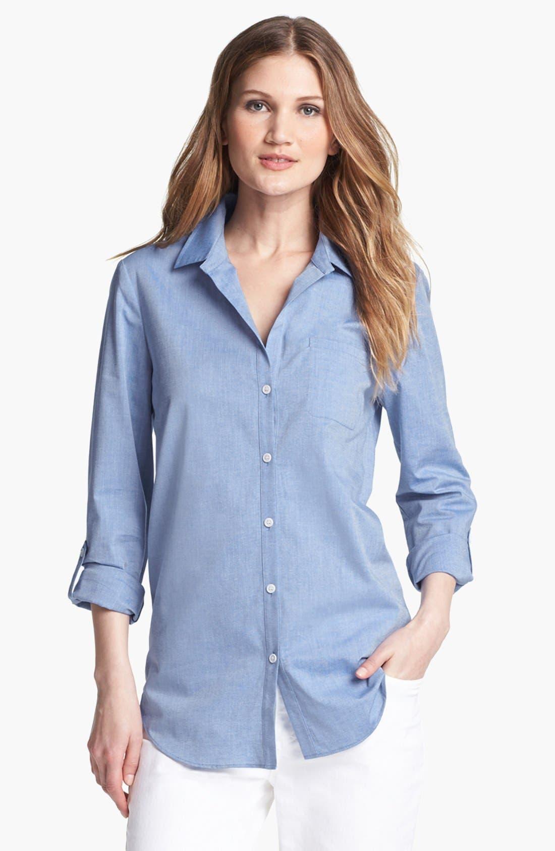 Main Image - Lafayette 148 New York Oxford Shirt