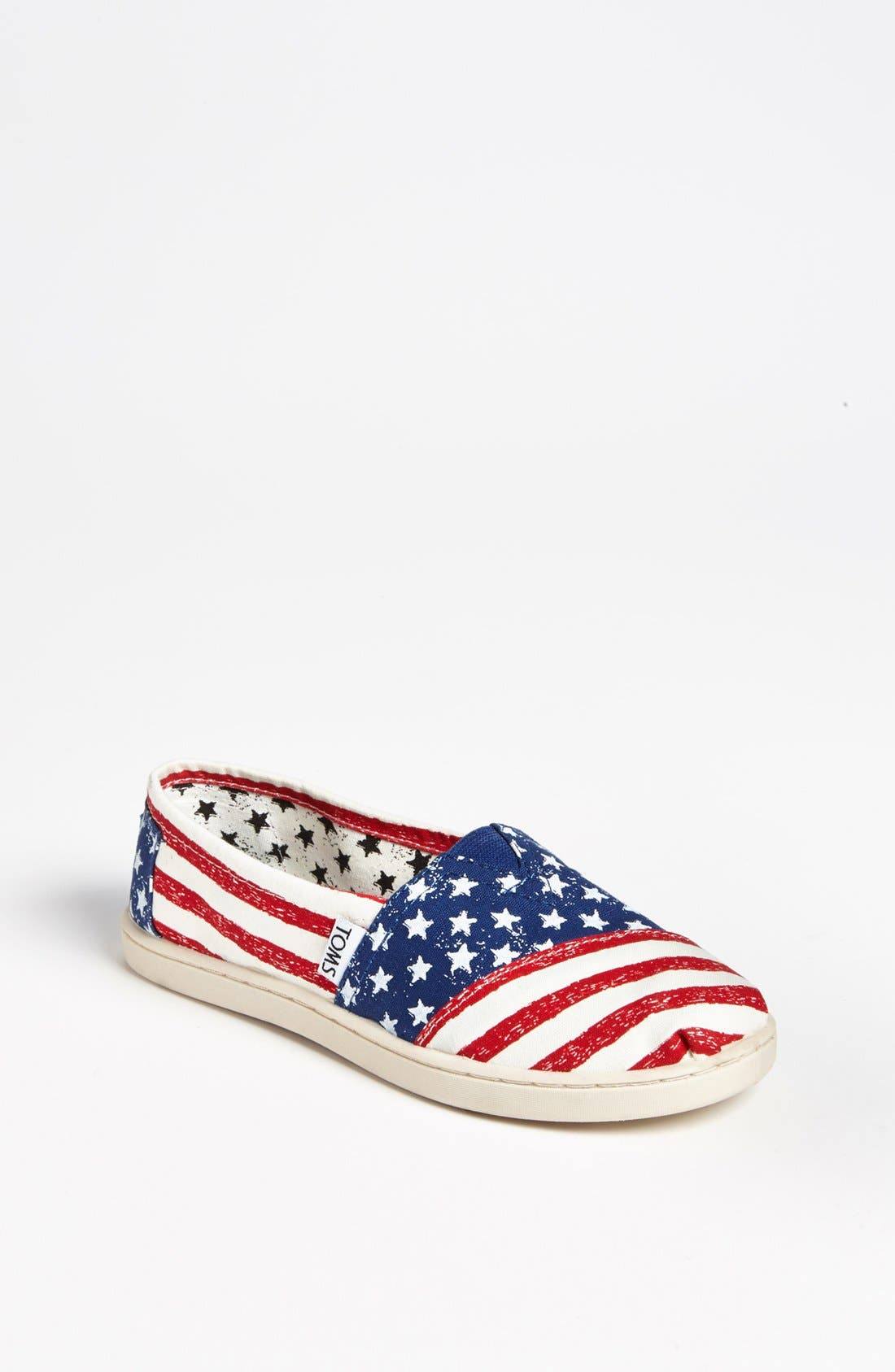 Main Image - TOMS 'Classic Youth - Stars & Stripes' Slip-On (Toddler, Little Kid & Big Kid)