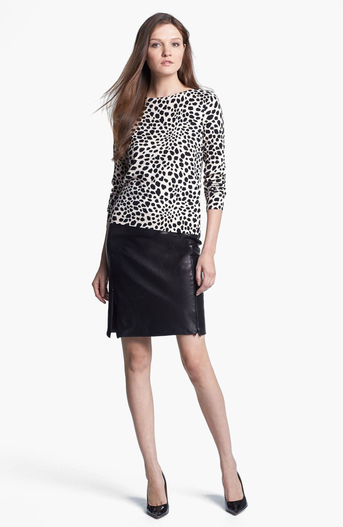 Alternate Image 3  - Diane von Furstenberg 'Rita 2' Leather Pencil Skirt