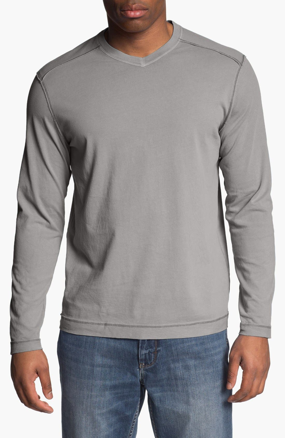 Main Image - Tommy Bahama Denim 'Cohen' Island Modern Fit Long Sleeve V-Neck T-Shirt
