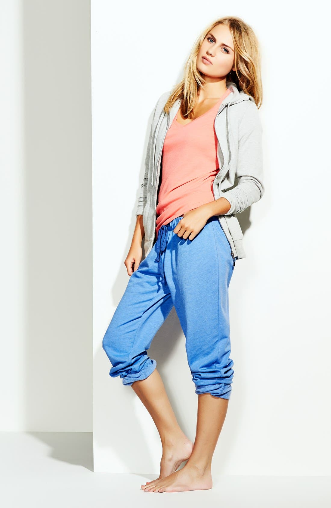 Alternate Image 5  - Make + Model 'Jogger' Fleece Pants