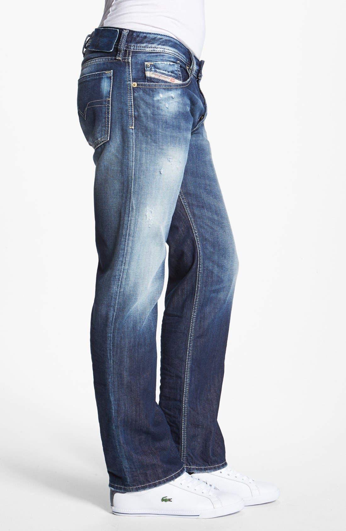 Alternate Image 3  - DIESEL® 'Waykee' Straight Leg Jeans (0810L)