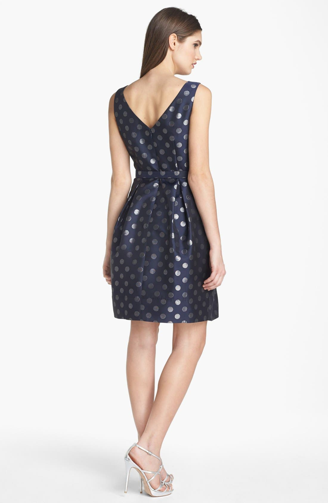 Alternate Image 2  - Eliza J Metallic Polka Dot Fit & Flare Dress