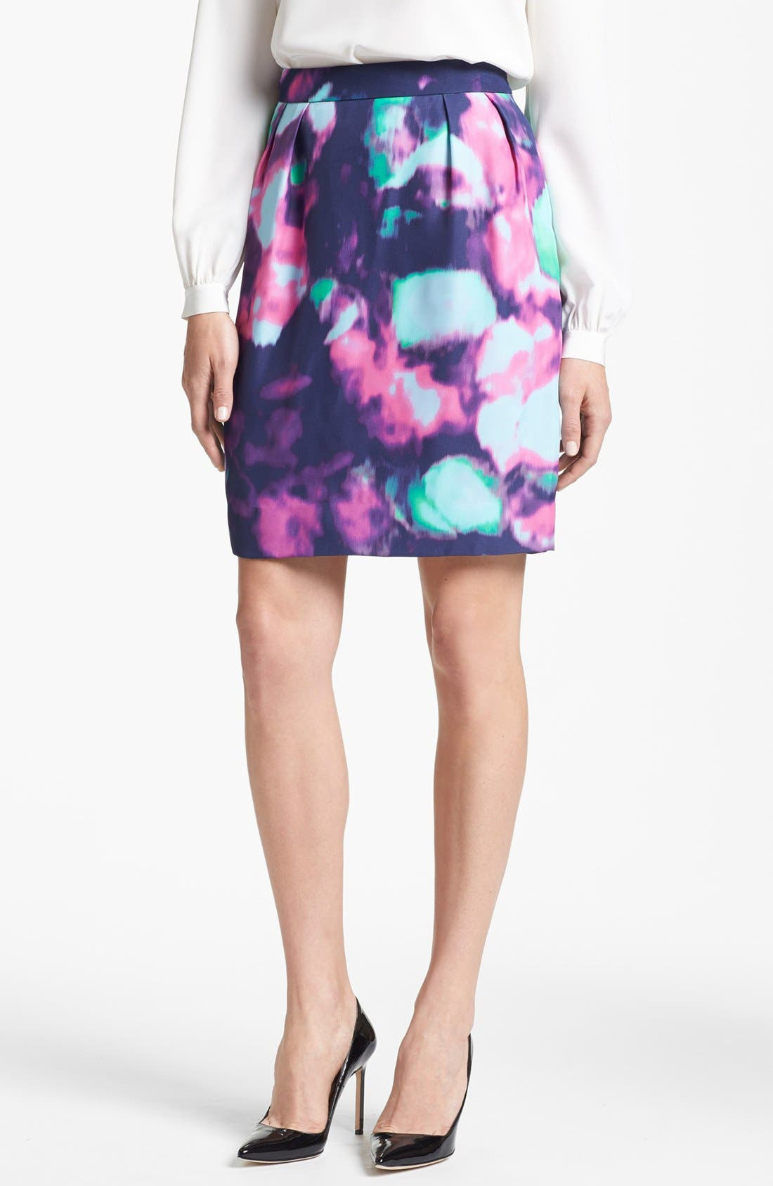 Main Image - kate spade new york 'barry' abstract floral print skirt
