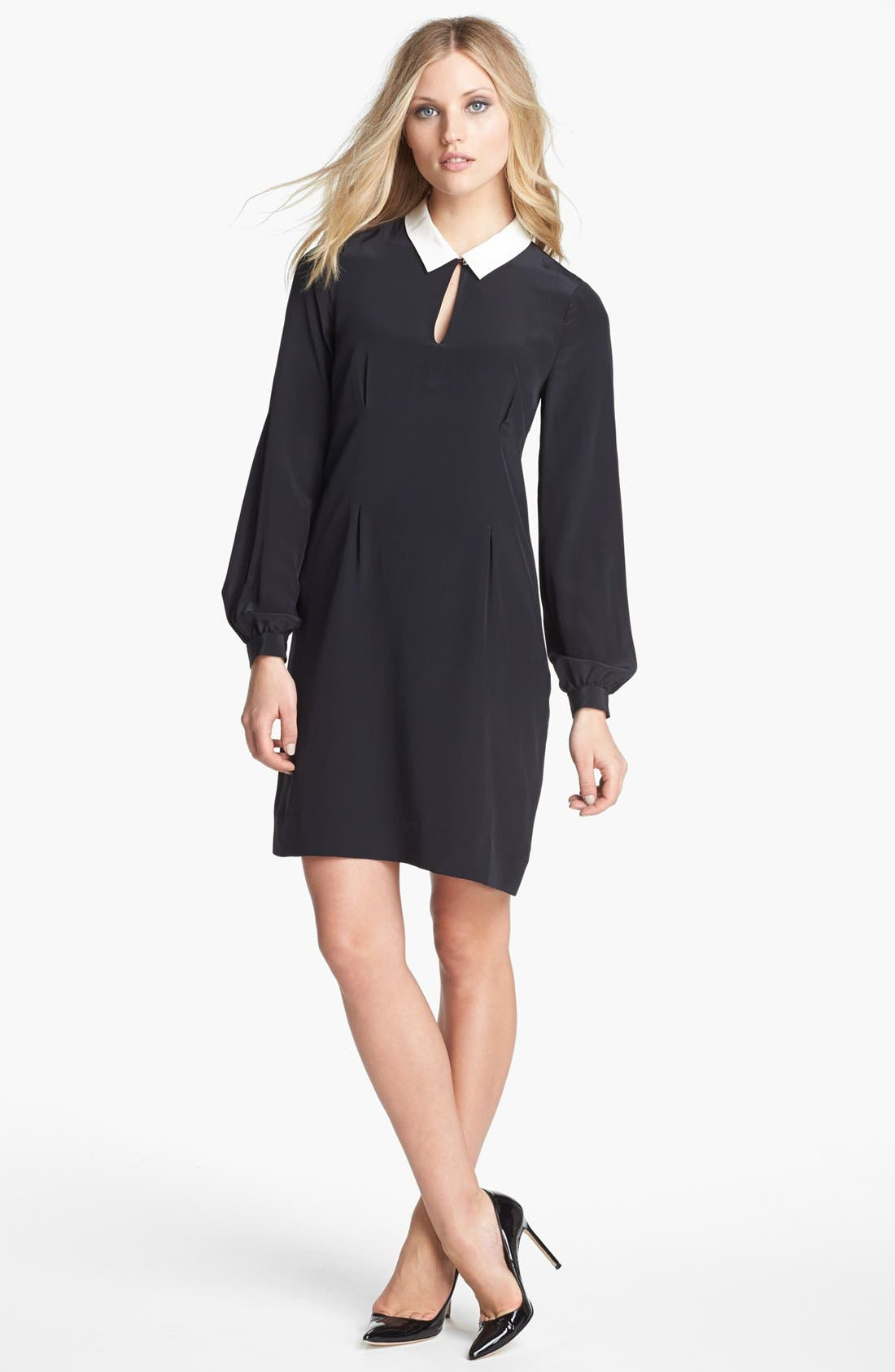 Alternate Image 1 Selected - kate spade new york 'catarina' silk sheath dress