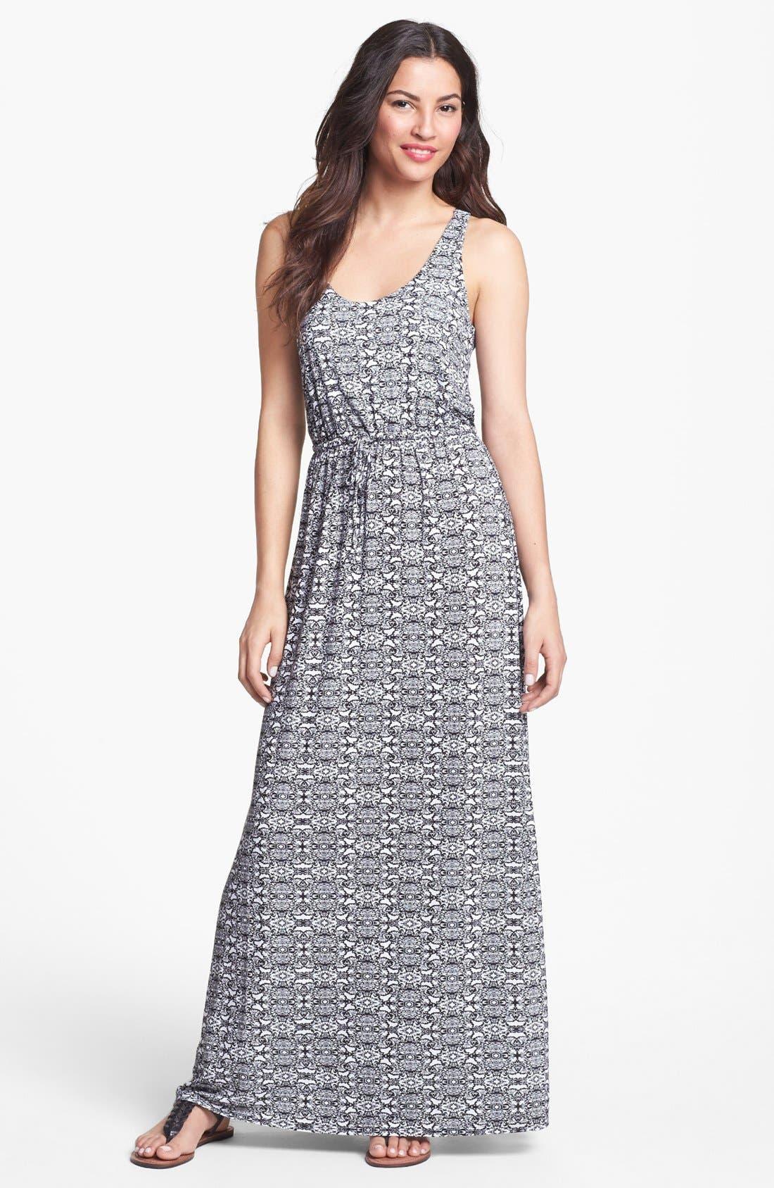 Alternate Image 1 Selected - Max & Mia Halter Maxi Dress