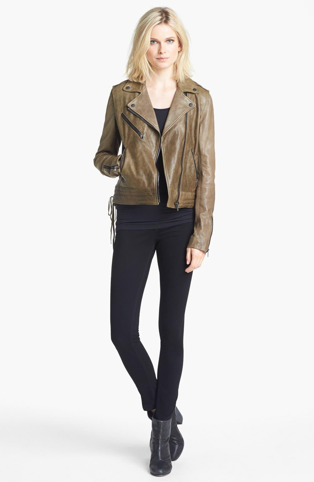 Alternate Image 2  - rag & bone 'Bowery' Leather Moto Jacket