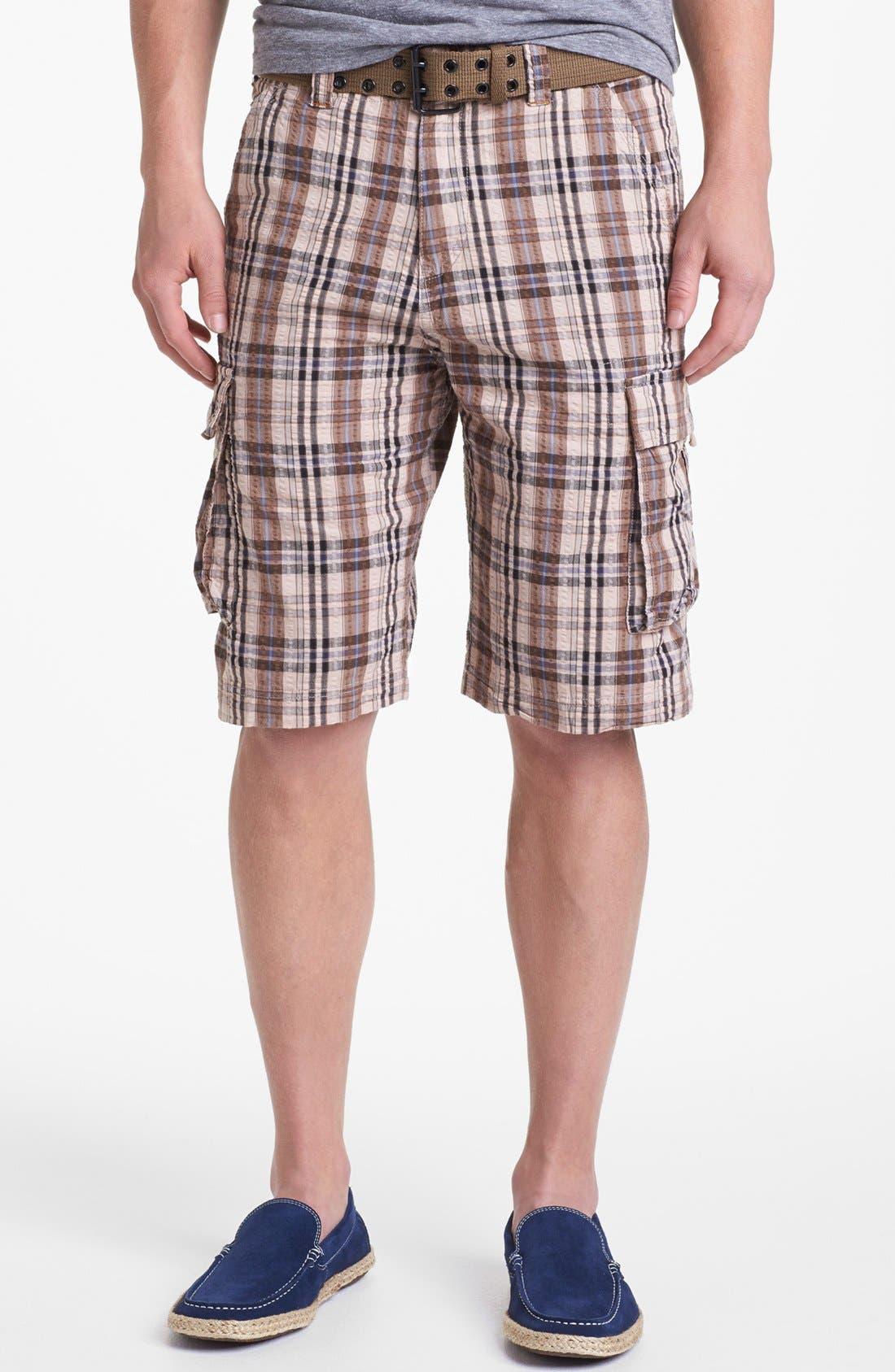 Main Image - W.R.K 'Wainscott' Seersucker Cargo Shorts