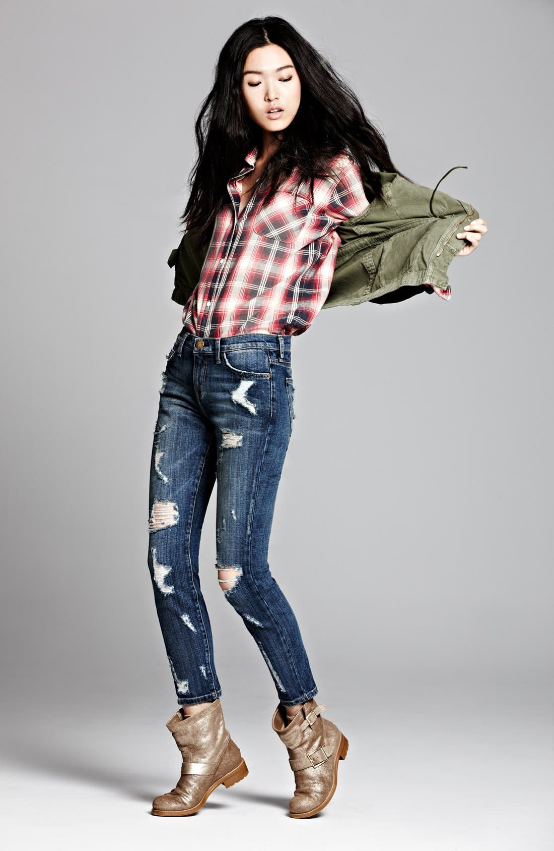 Alternate Image 1 Selected - Current/Elliott Jacket, Shirt & Jeans