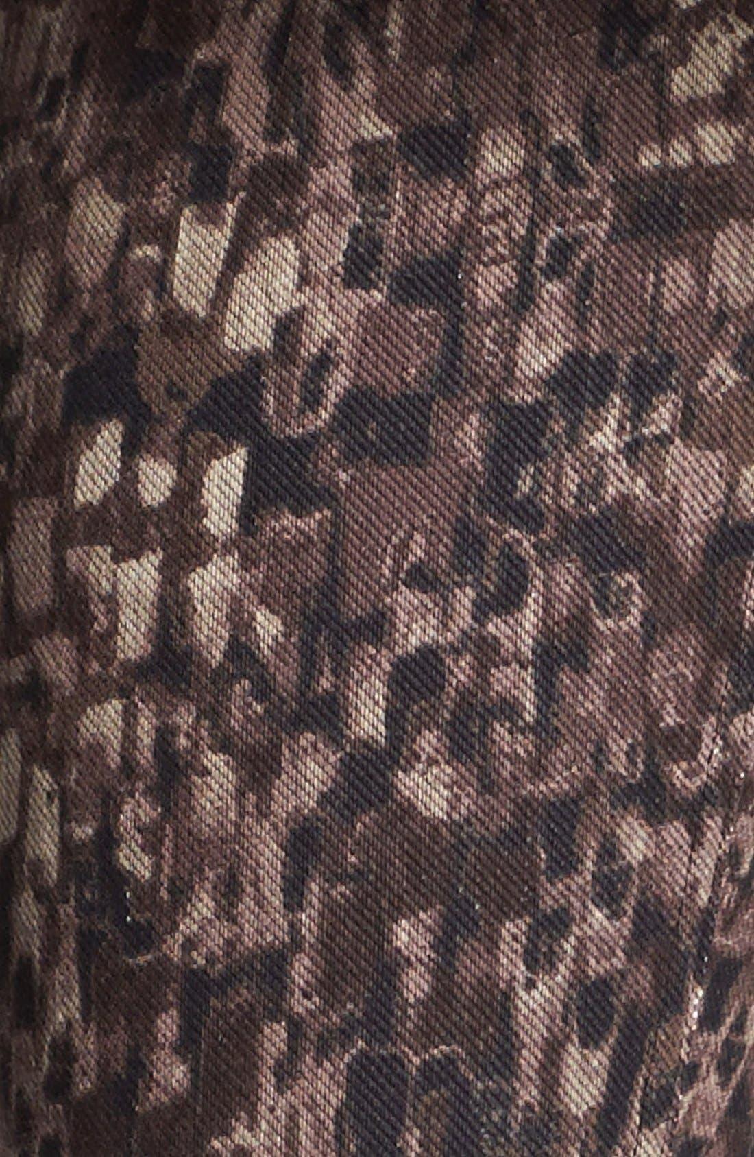 Alternate Image 2  - Hue 'Abstract Geo' Print Denim Leggings (Online Only)