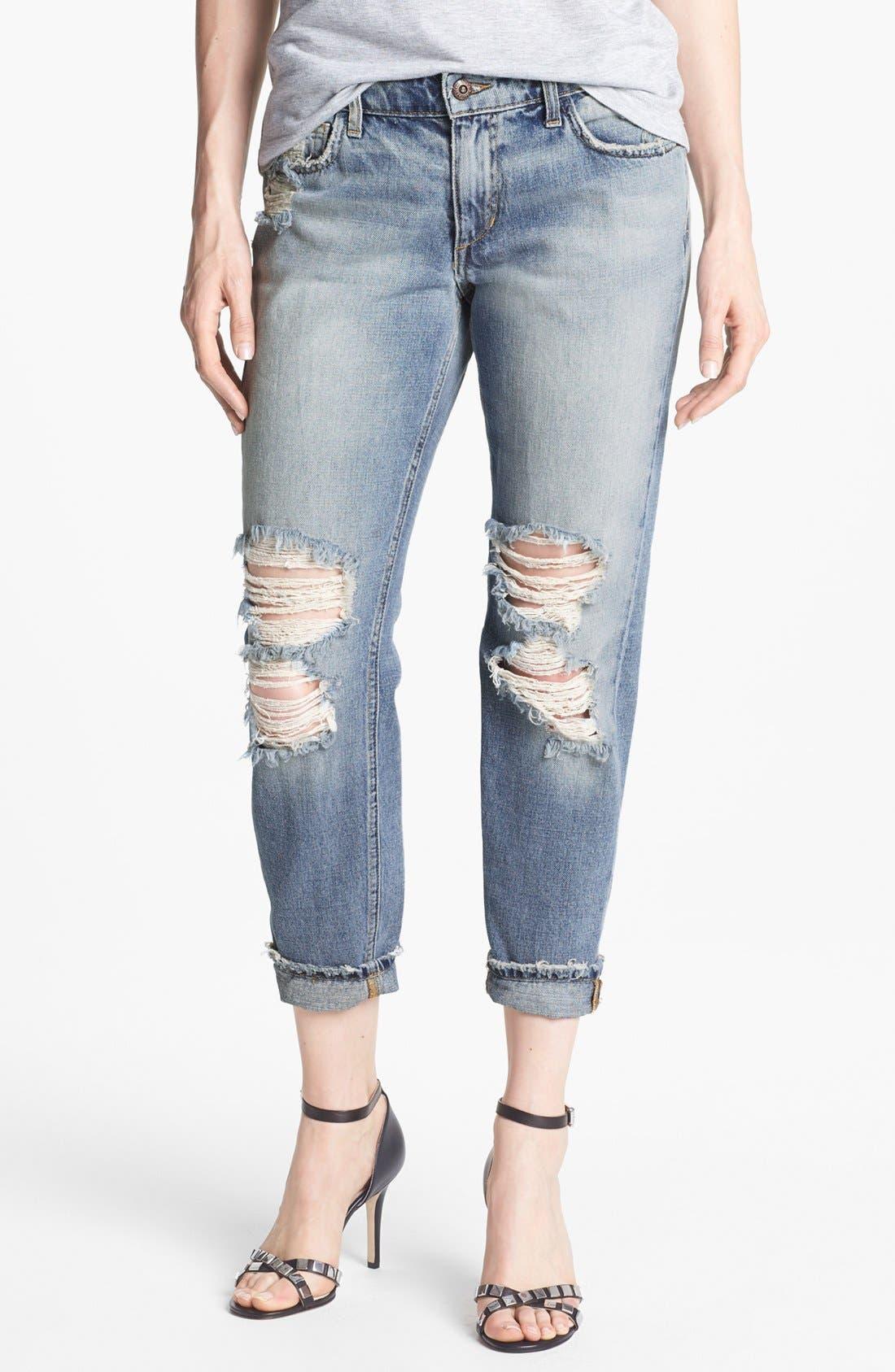 Alternate Image 1 Selected - Joe's 'Easy Highwater' Destroyed Jeans (Keerst)