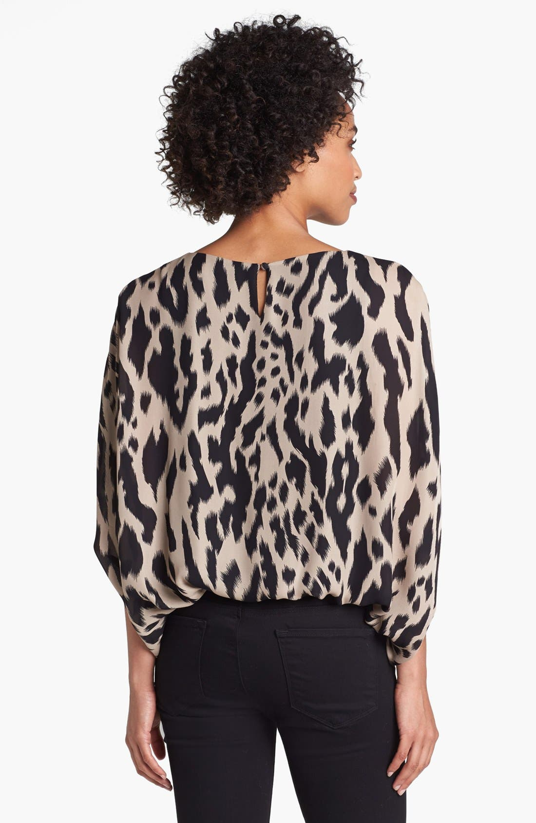Alternate Image 2  - Vince Camuto Batwing Sleeve Ikat Print Blouse (Online Only)